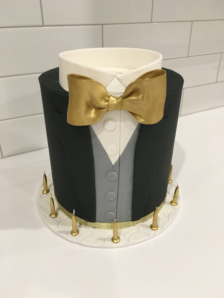 Tuxedo Birthday Cake