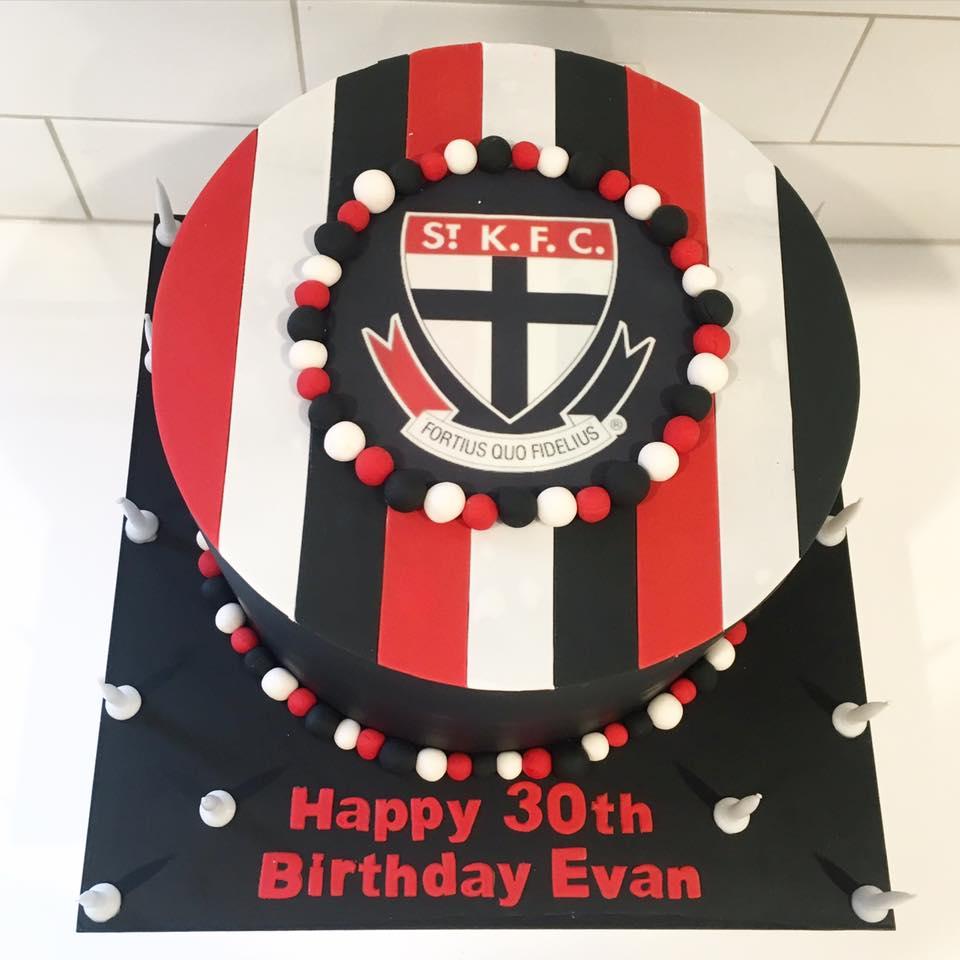 St Kilda Saints Birthday Cake