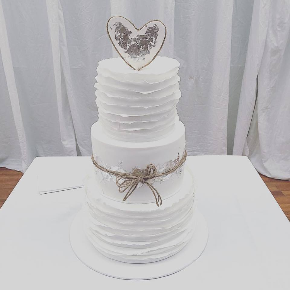 Wedding Cake with Heart Topper