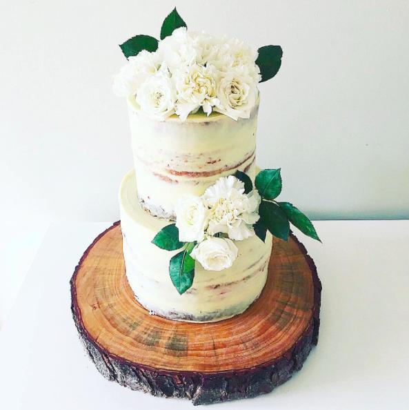 Copy of Rustic Naked Wedding Cake