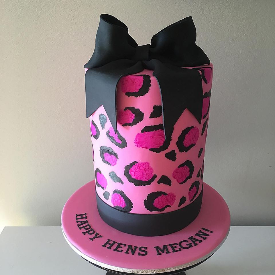 Pink Leopard Print Hens Party Cake