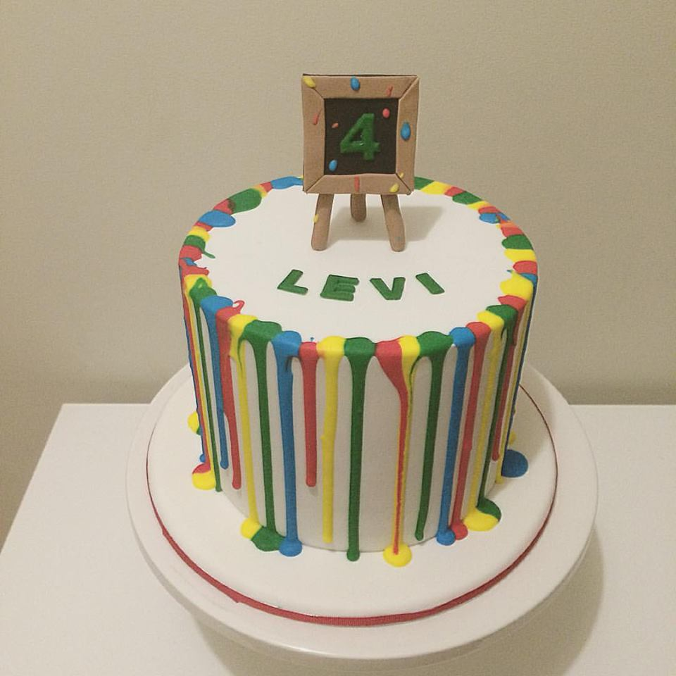 Artist 4th Birthday Cake