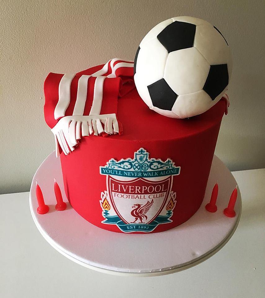 Liverpool FC Birthday Cake