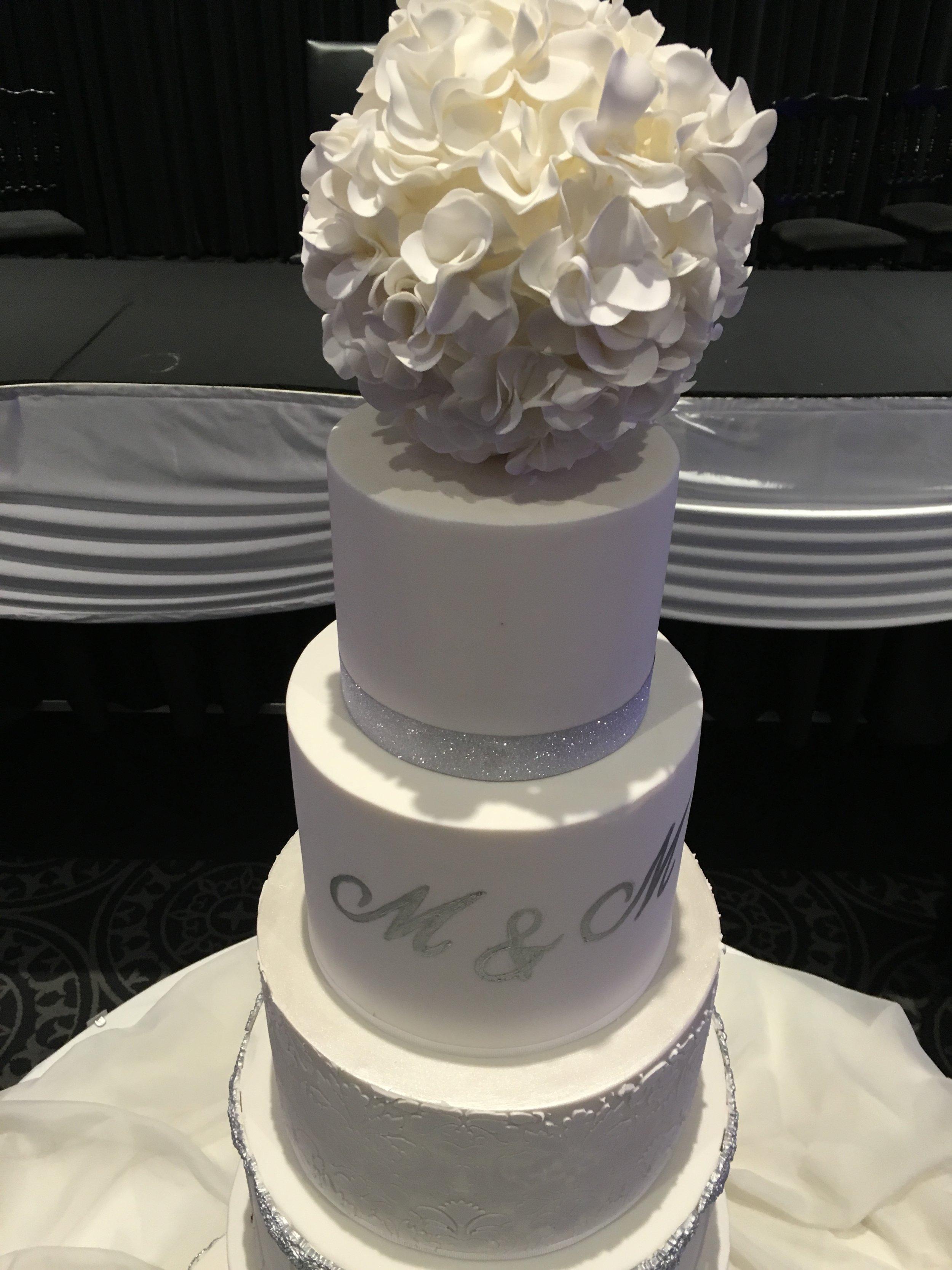 6 Tier Showstopper Wedding Cake