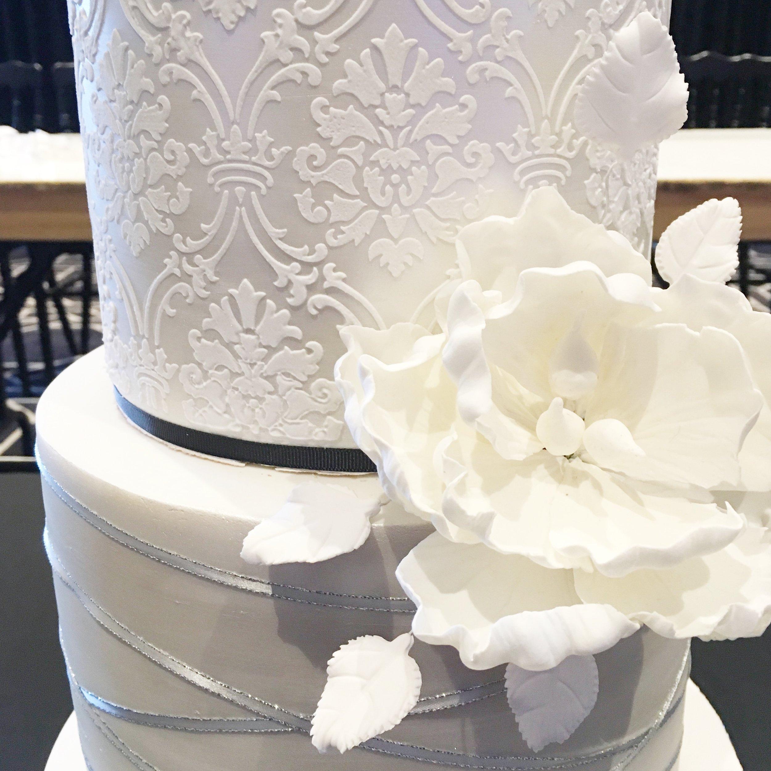 Copy of Wedding Cake with Sugar Flower