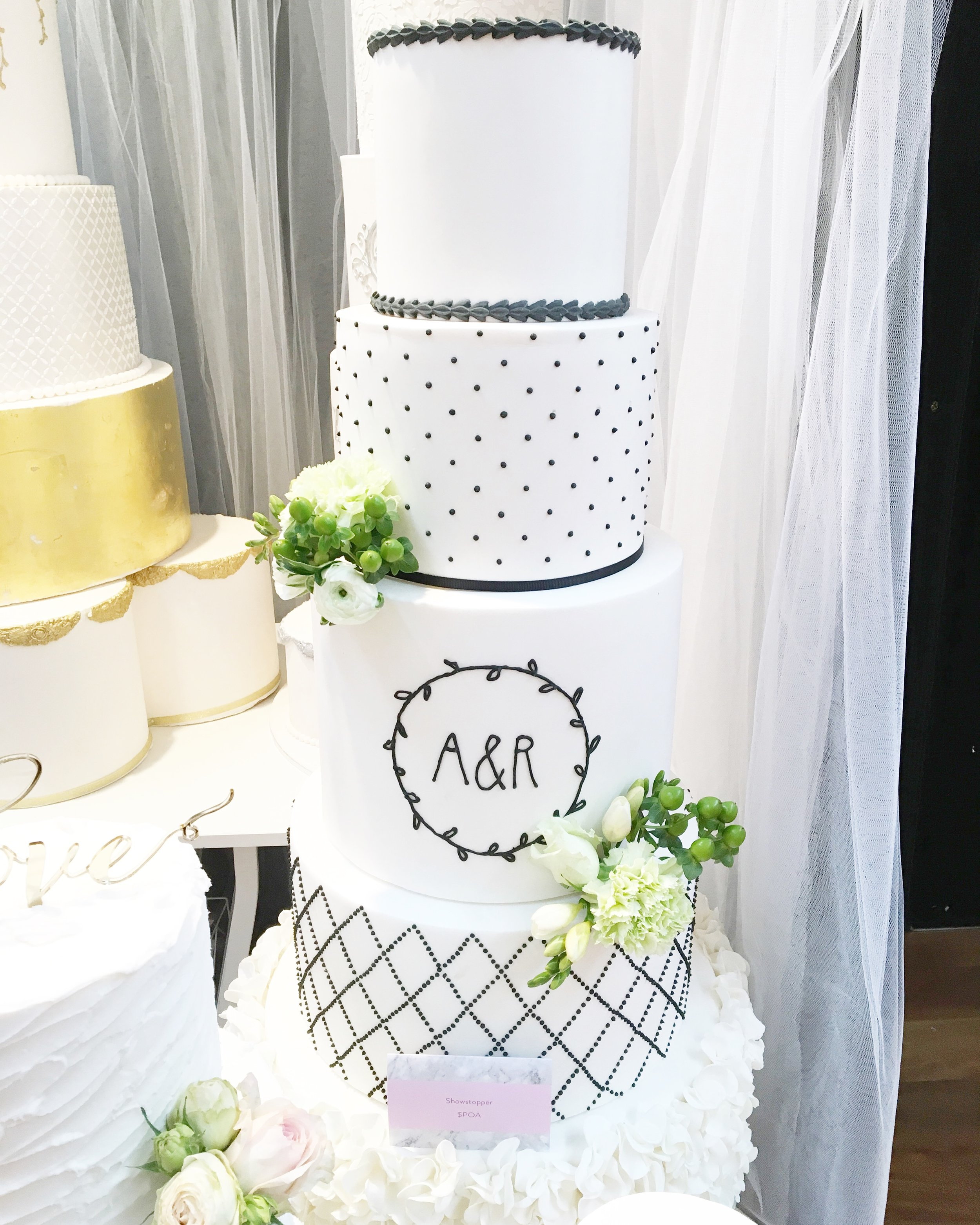 Copy of Black & White Wedding Cake