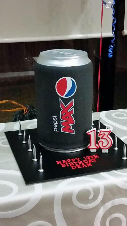 Pepsi Max Birthday Cake
