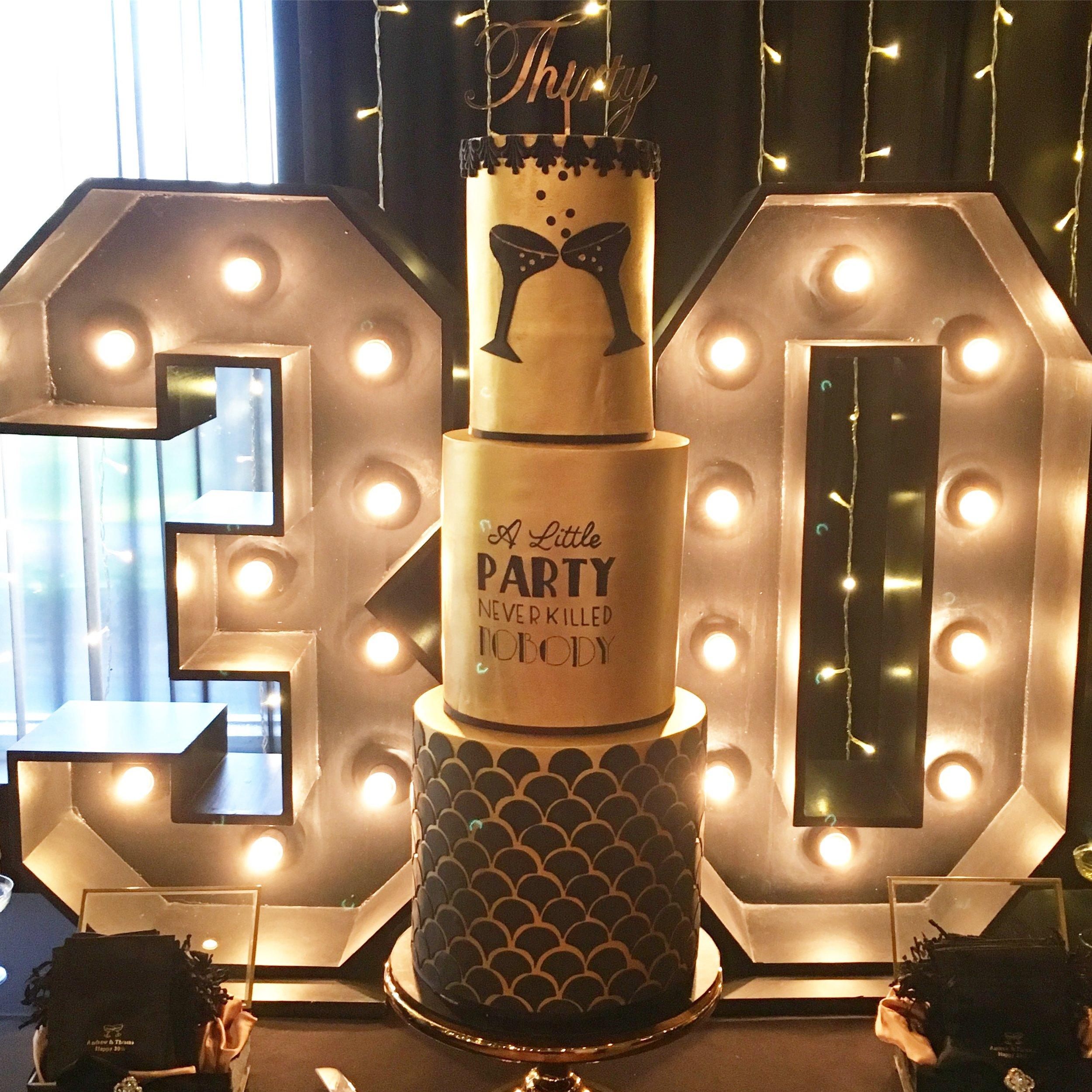 Roaring 20s 30th Birthday Cake