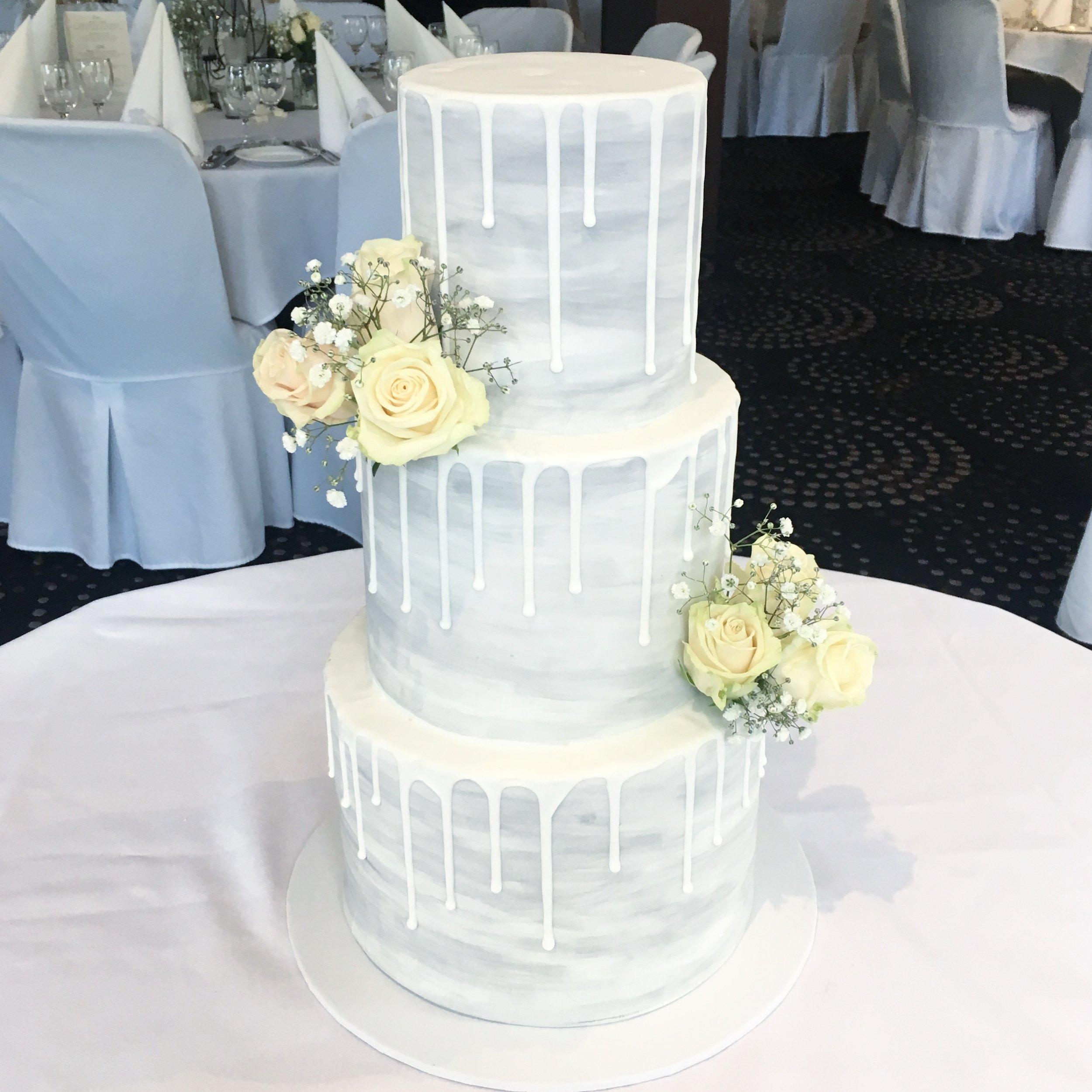 Copy of Grey Watercolour Cake