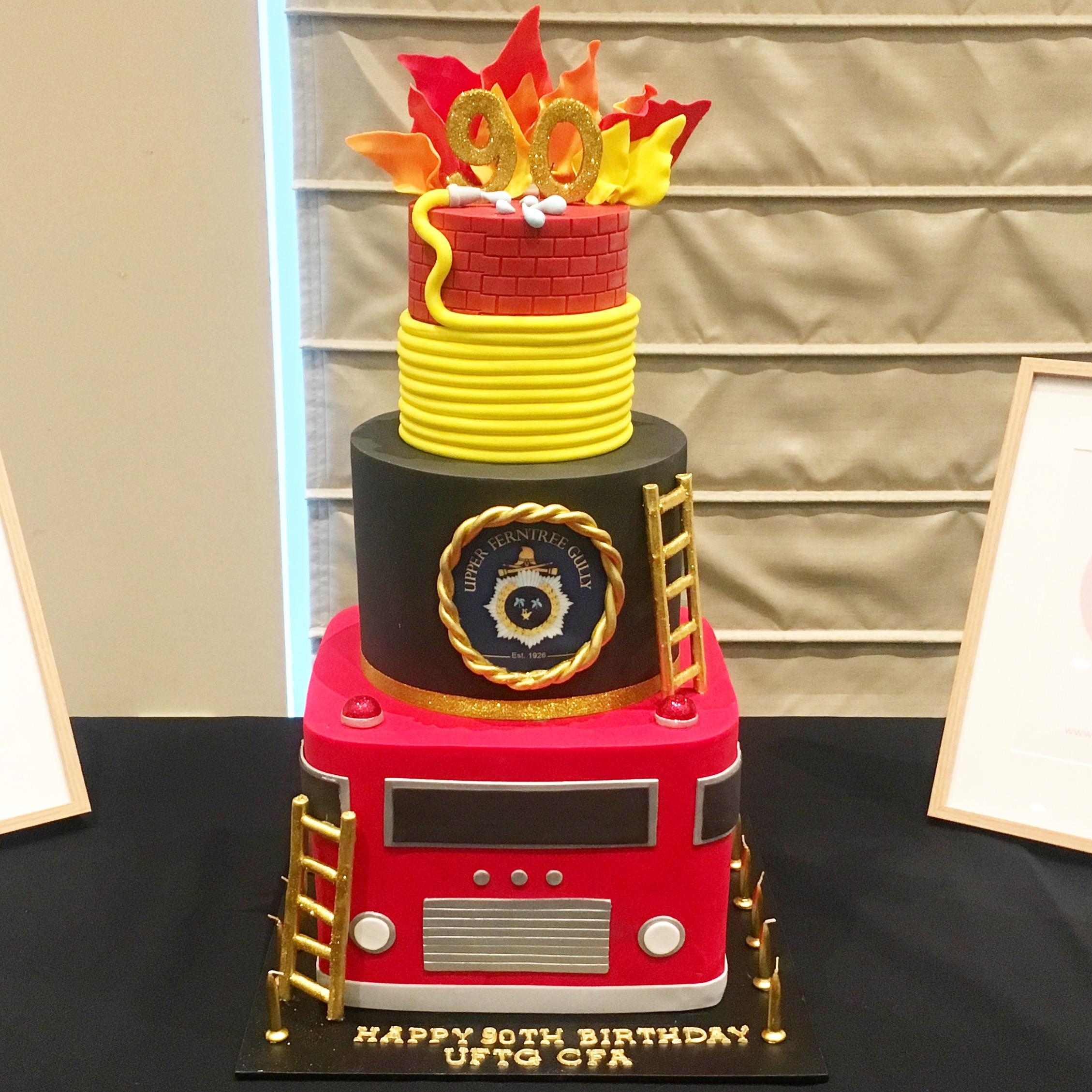 UFTG CFA 90th Birthday Firetruck Cake