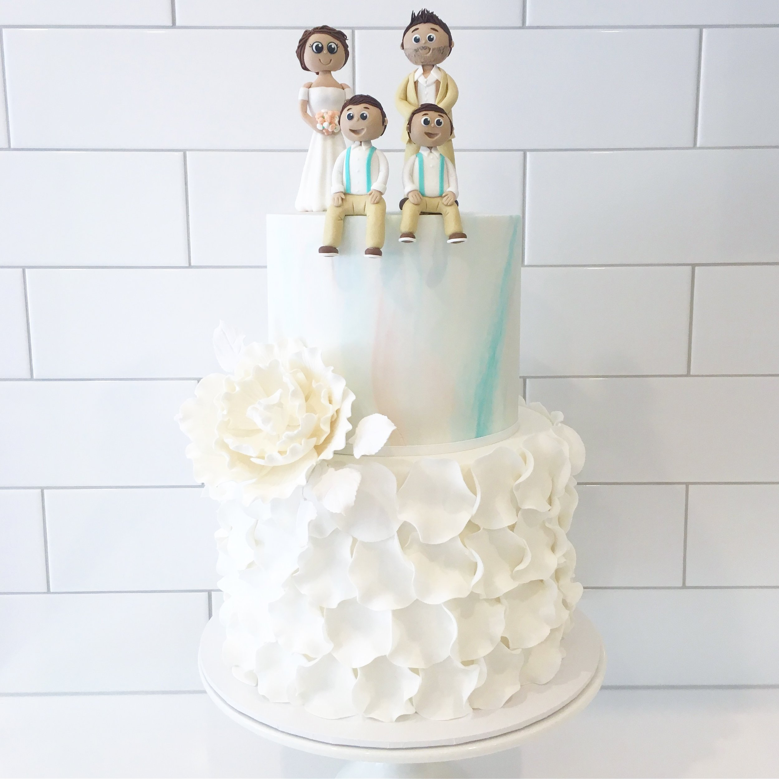 Wedding Cake with Custom Toppers