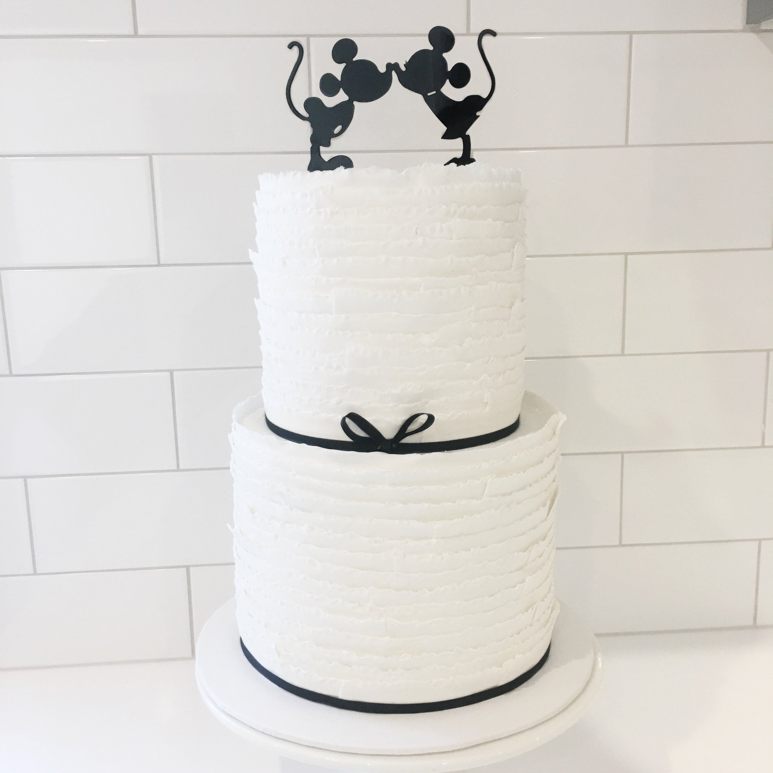 Wedding Cake with Disney Topper