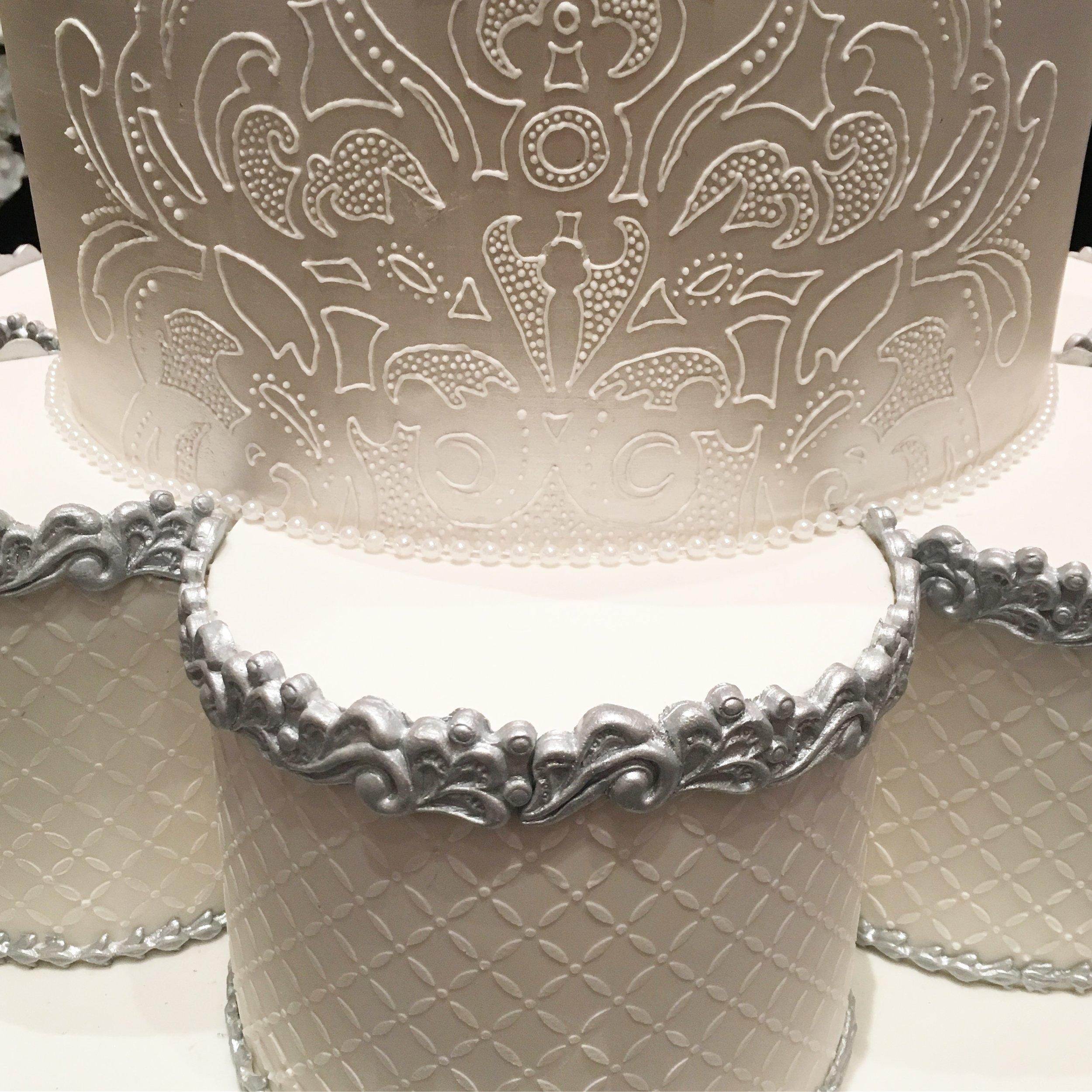 Wedding Cake with Petal Tier