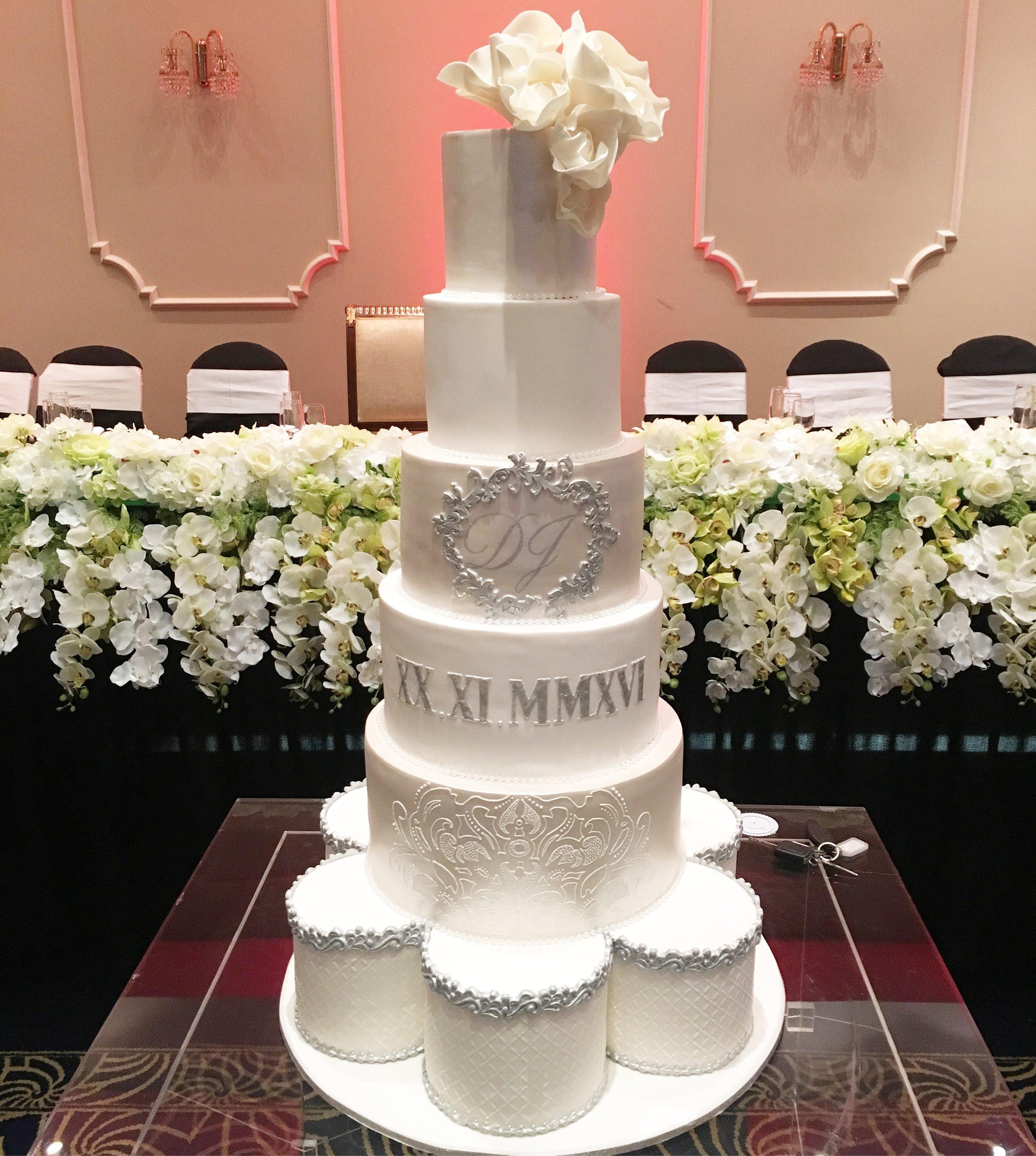 Silver Showstopper Wedding Cake