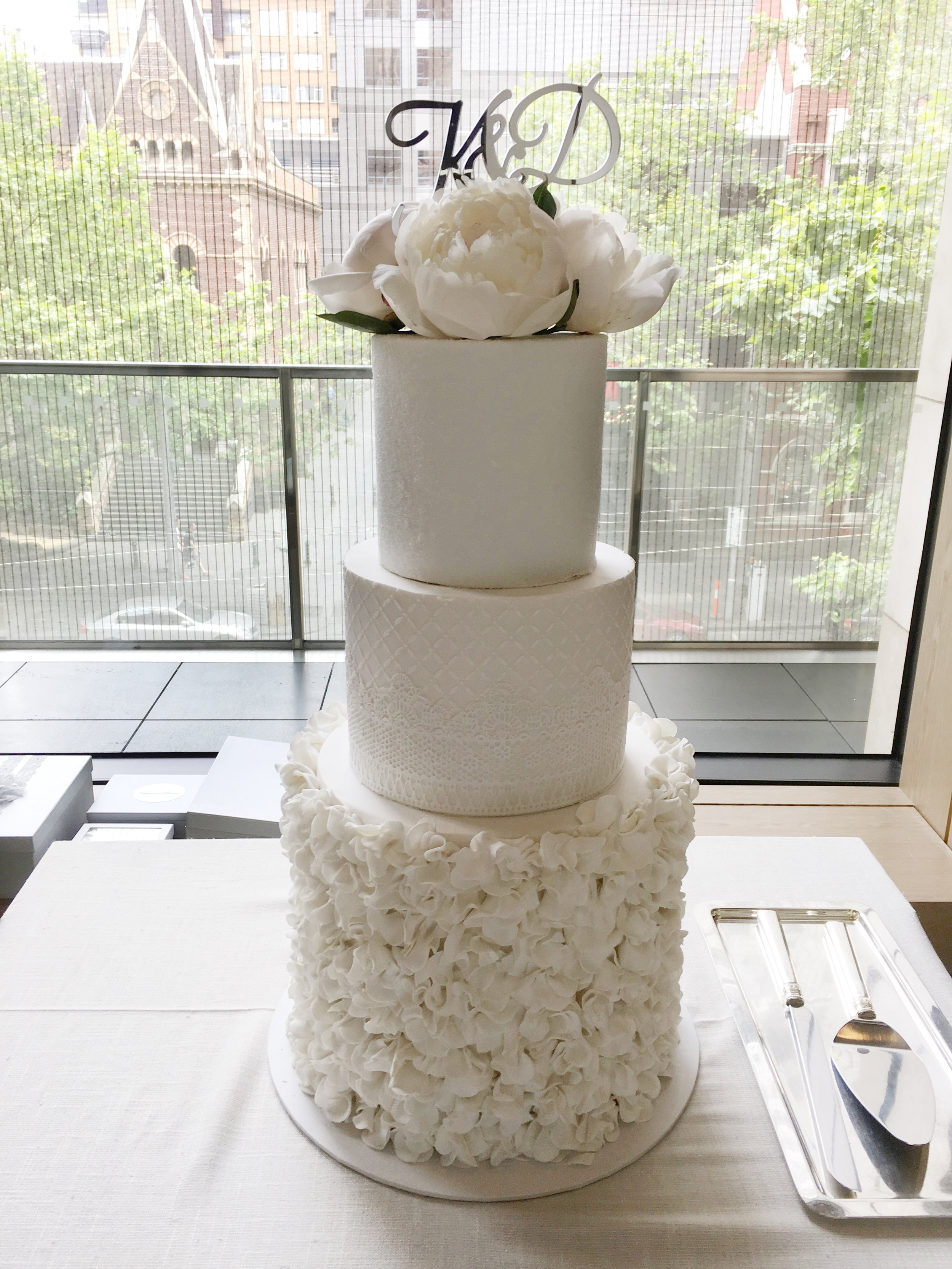 Copy of White Wedding Cake with Ruffles
