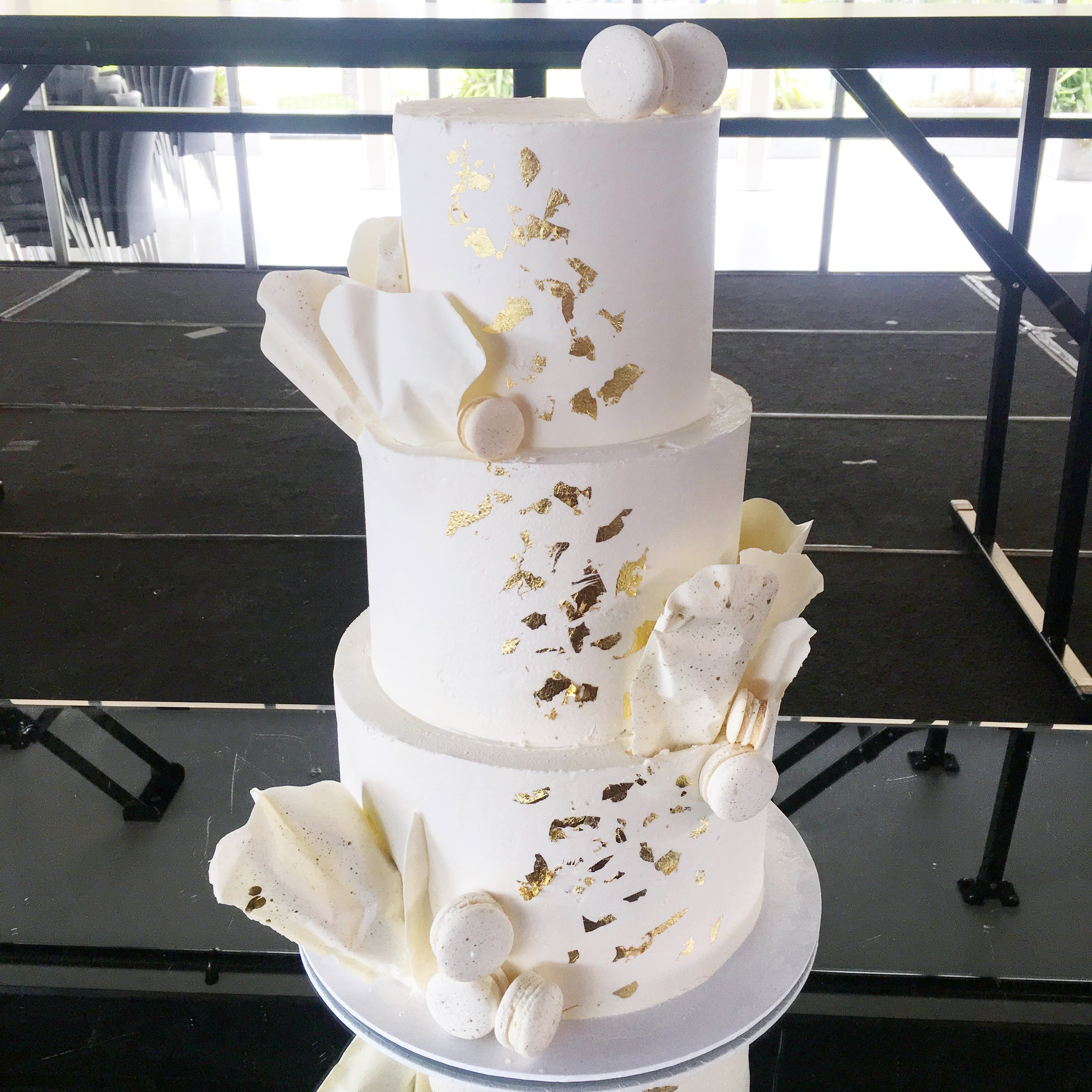 Wedding Cake with Chocolate Sails