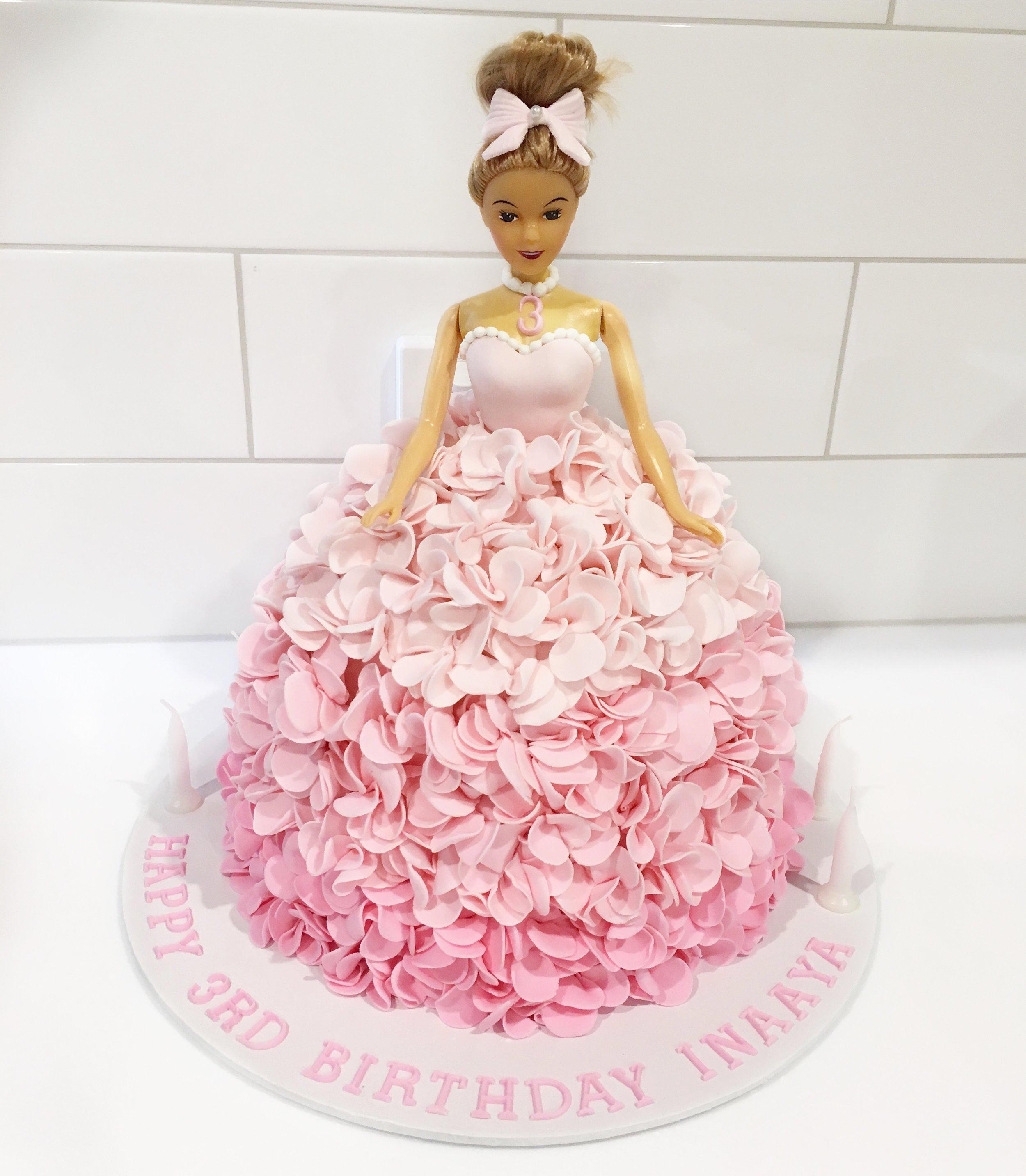 Pink Princess Doll Cake