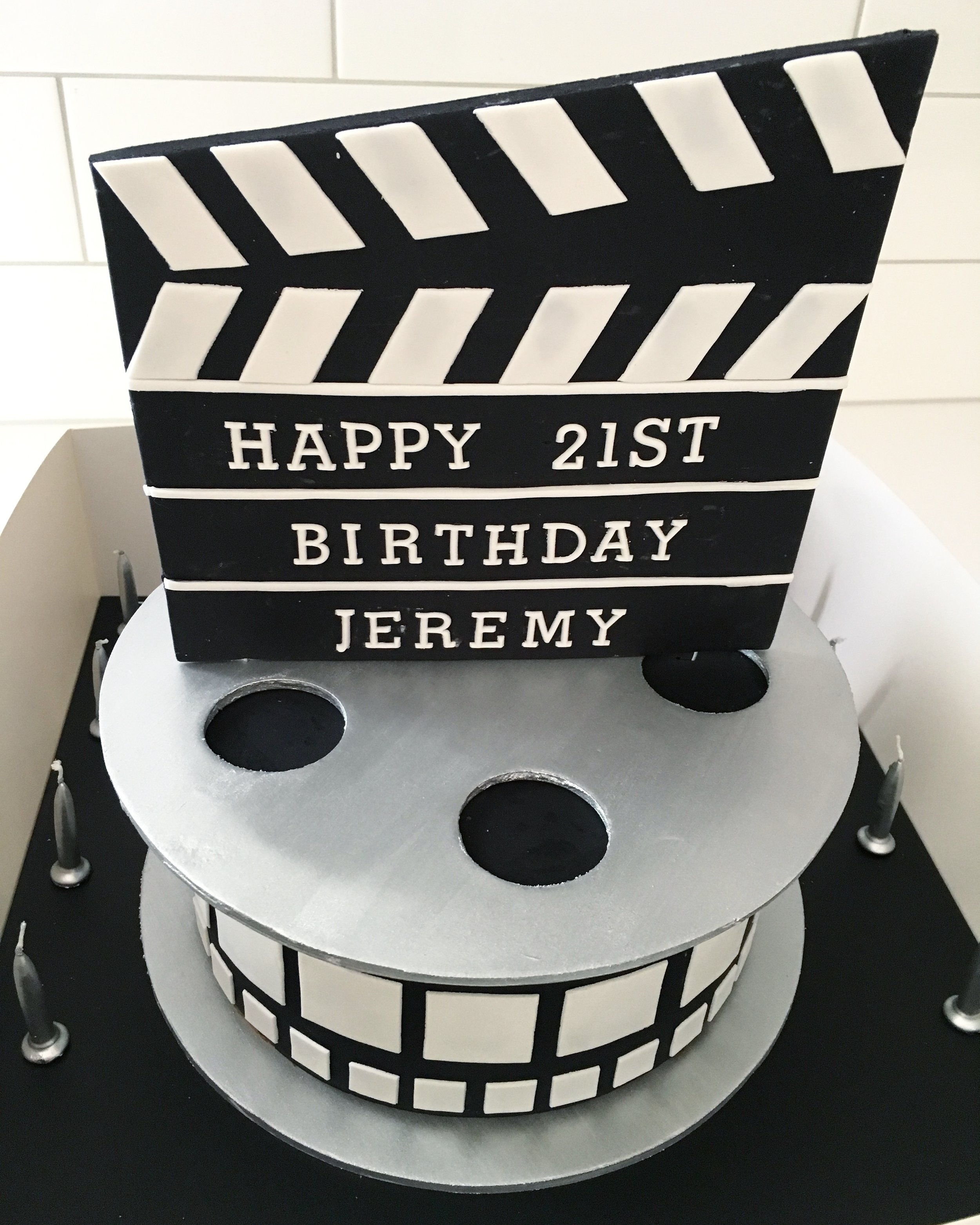 Movie Themed 21st Birthday Cake