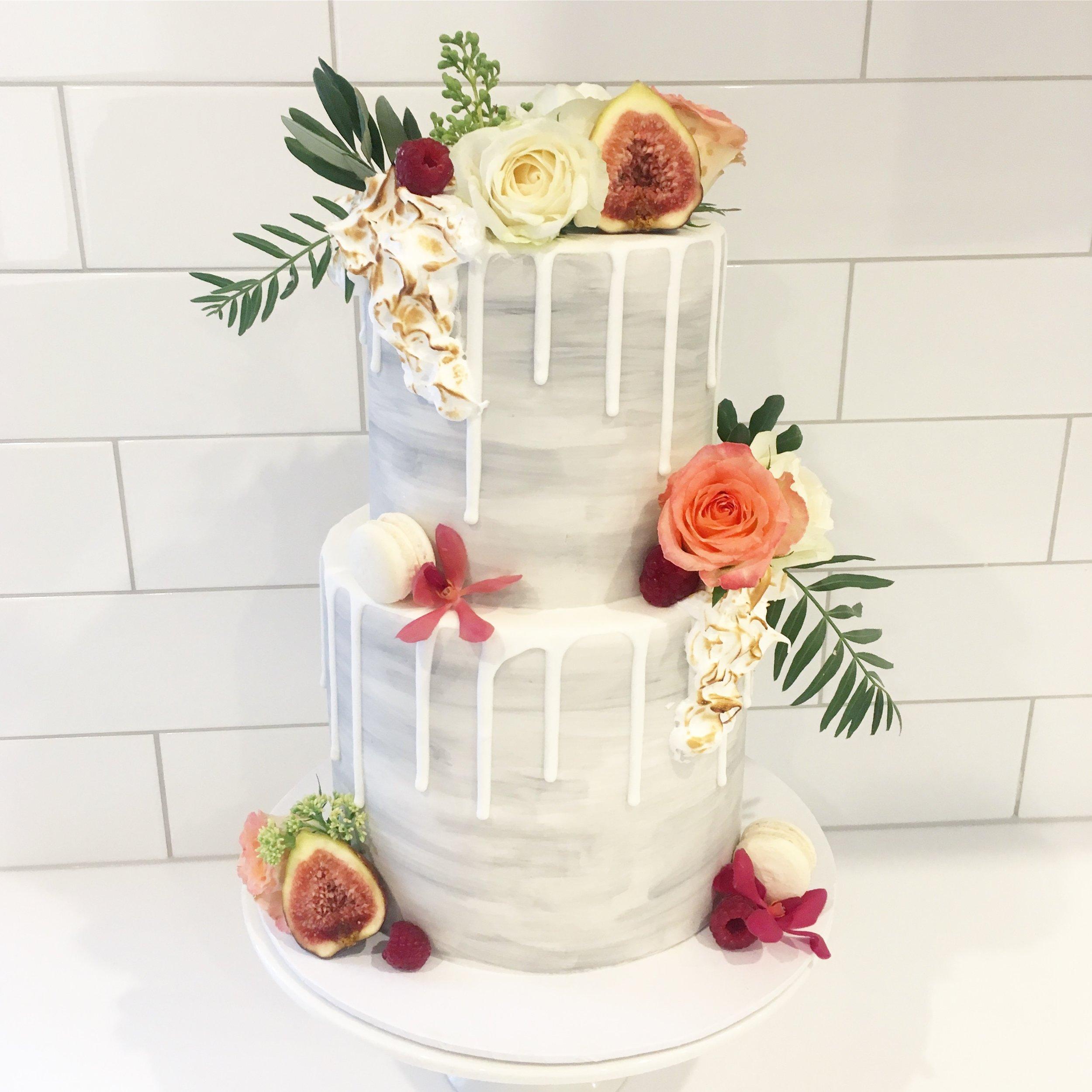 Grey Watercolour Cake