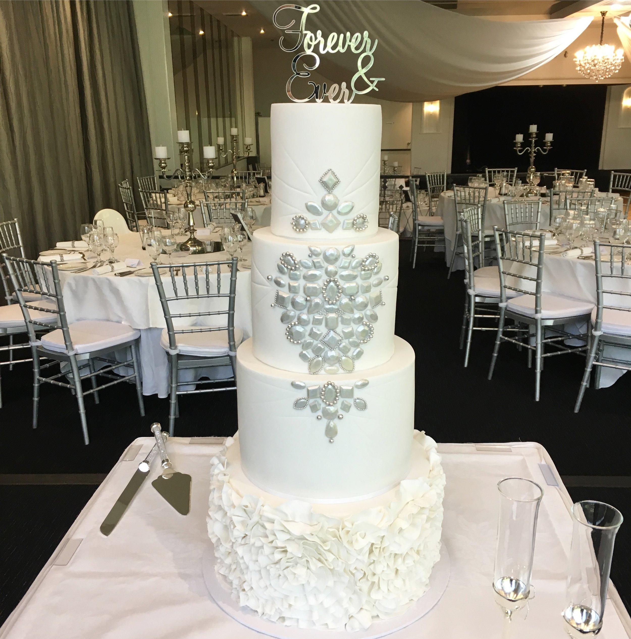 Gemstone Wedding Cake