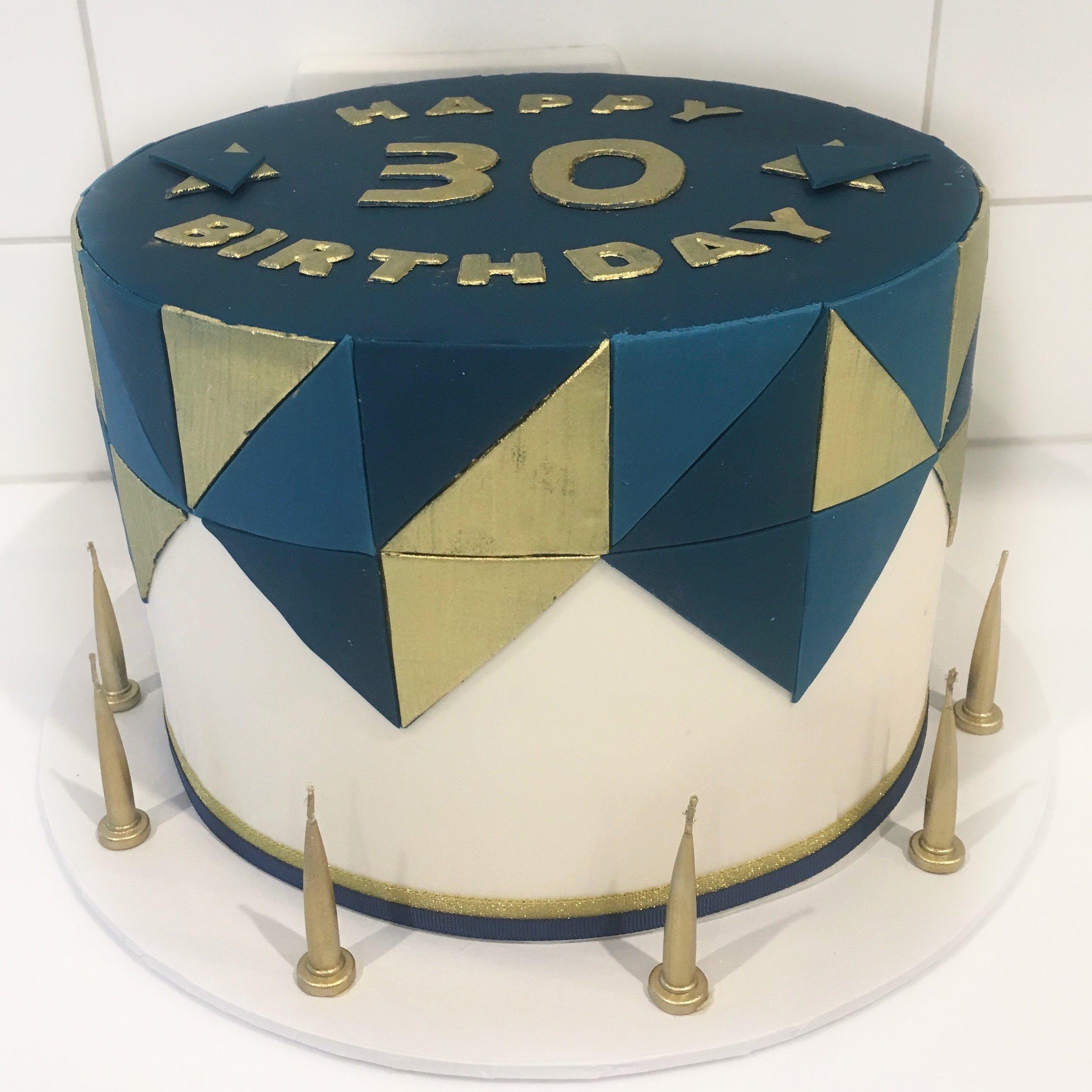 Geometric 30th Birthday Cake