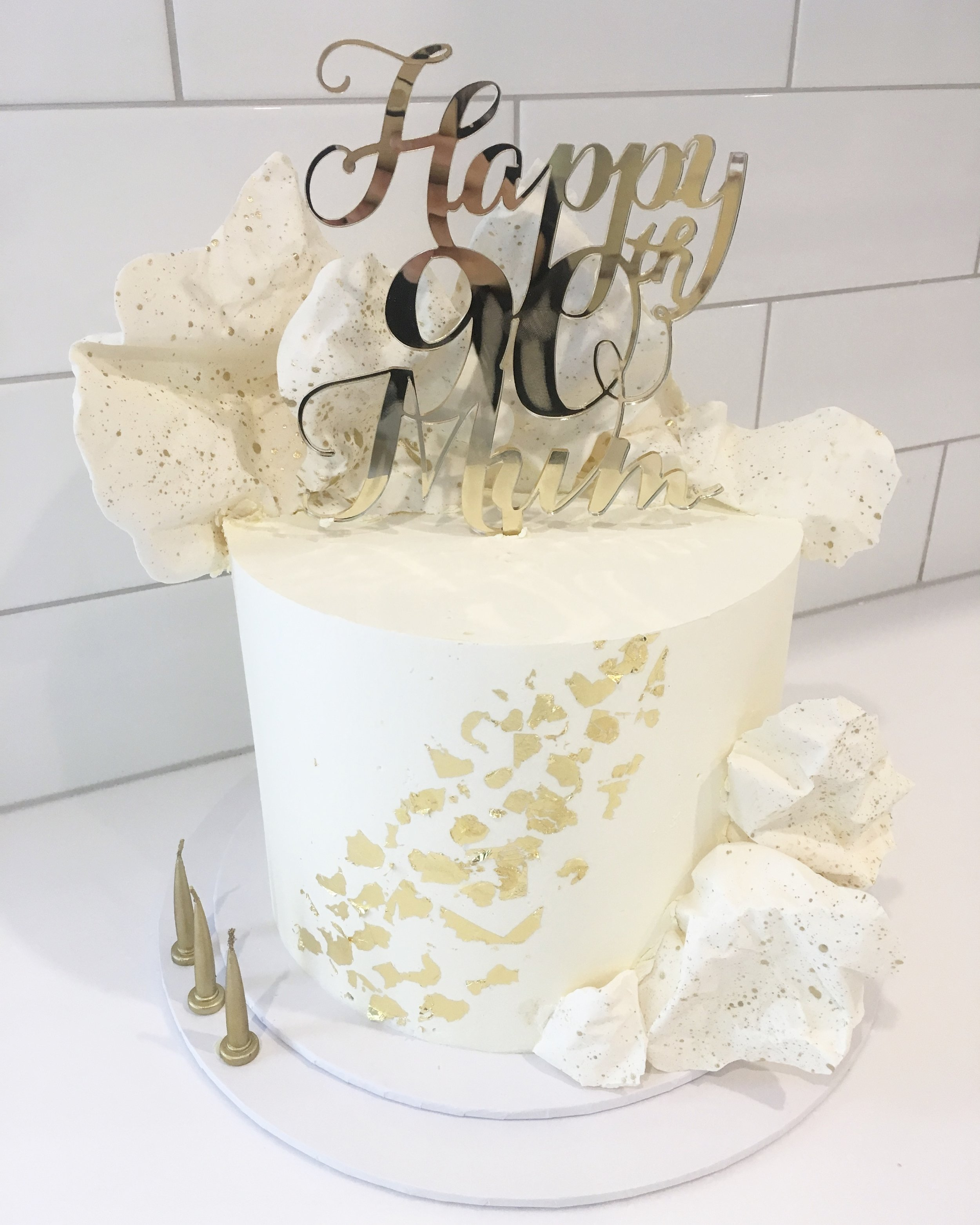 Birthday Cake with Chocolate Sails