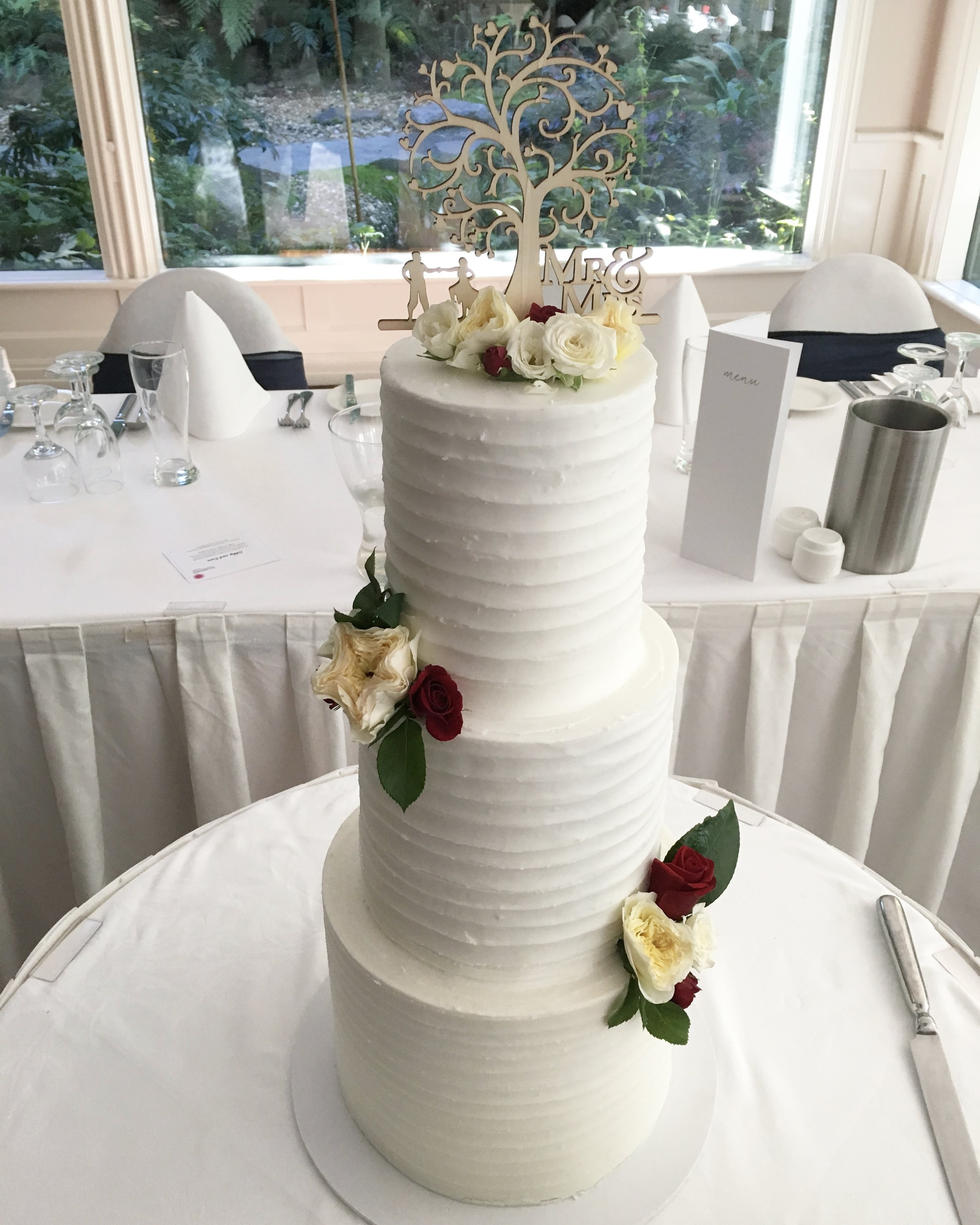 Horizontal Lined Buttercream Cake