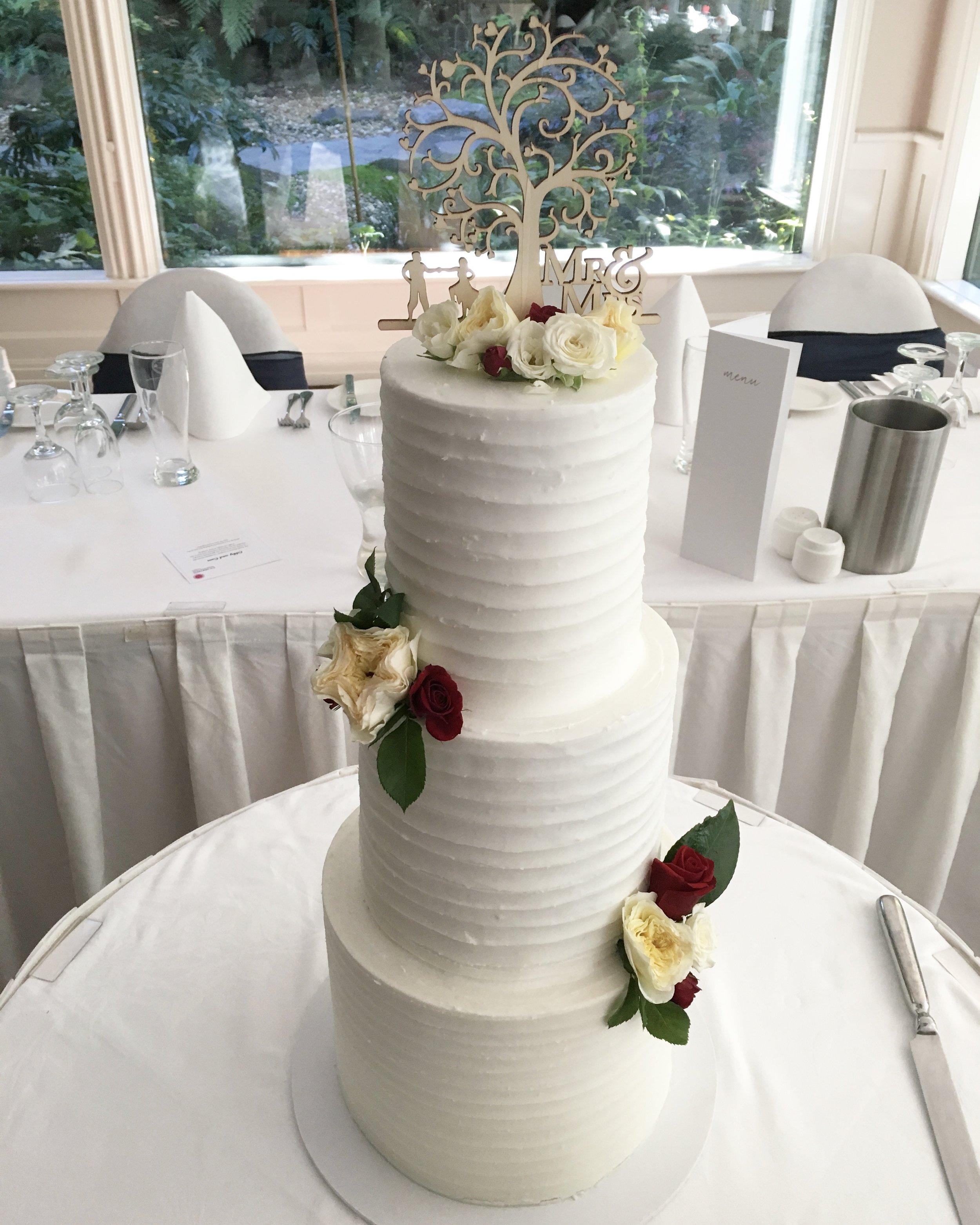 Copy of Horizontal Lined Buttercream Cake