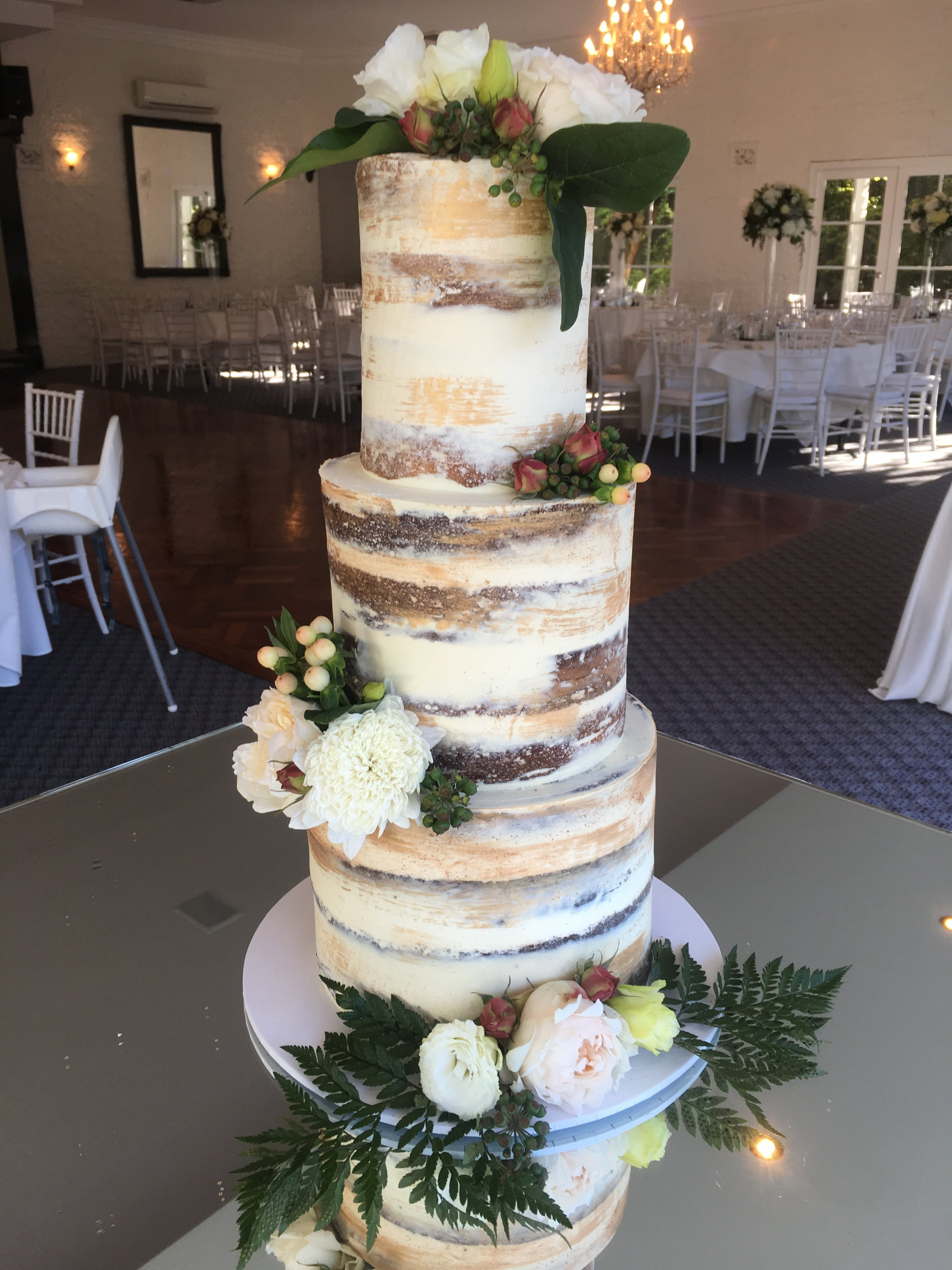 Naked Cake with Painted Detail