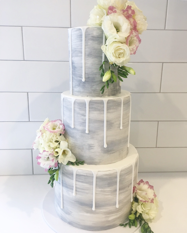 Copy of White Drip Wedding Cake