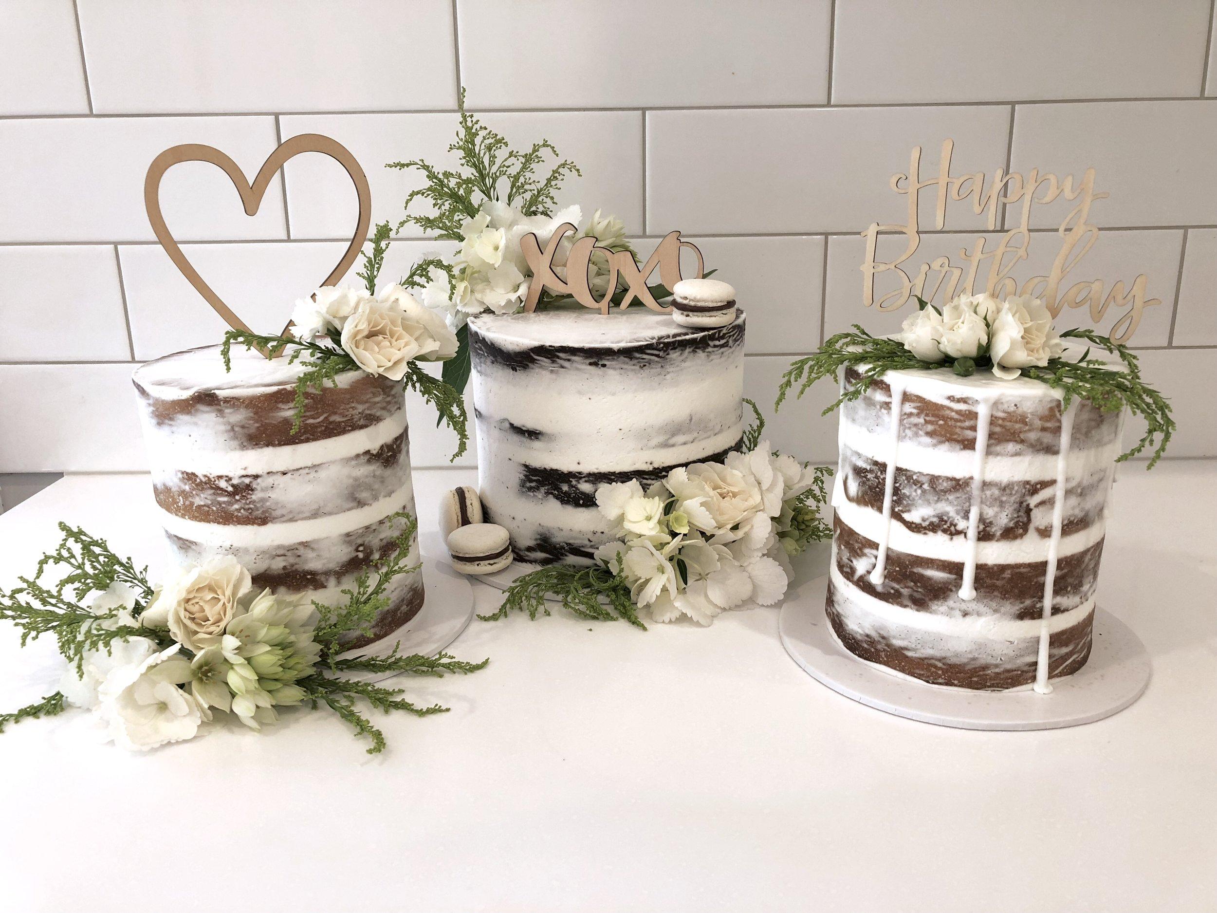 Naked Cake Trio