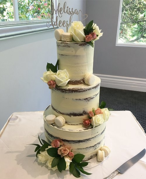 "12""/9""/6""  Tea & Coffee Serves: 200-210 Dessert Serves: 100-105   Naked  starts from $775 plus  Delivery .   Buttercream  starts from $800 plus  Delivery .  Custom Cakes & Fondant Finish starts from: $810 plus  Delivery . Click  here  to enquire."
