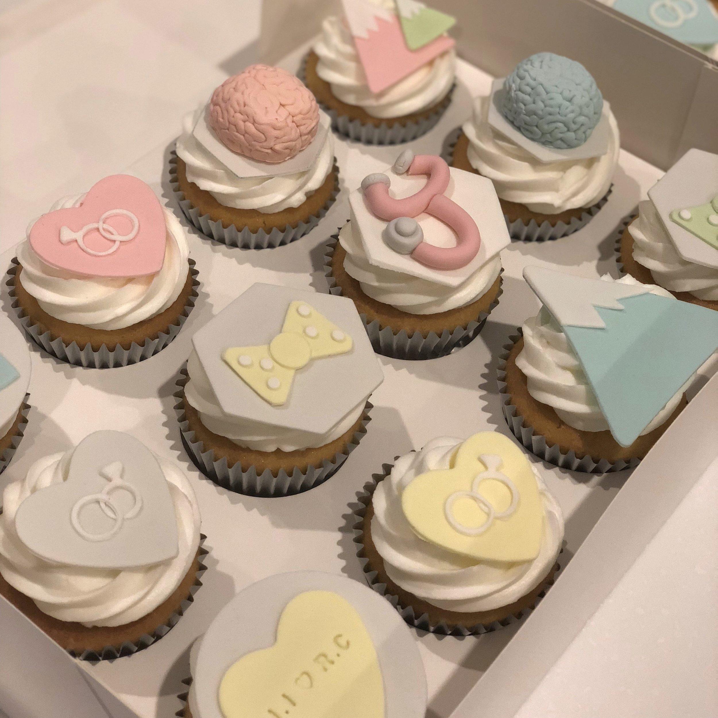 Custom Hens Cupcakes