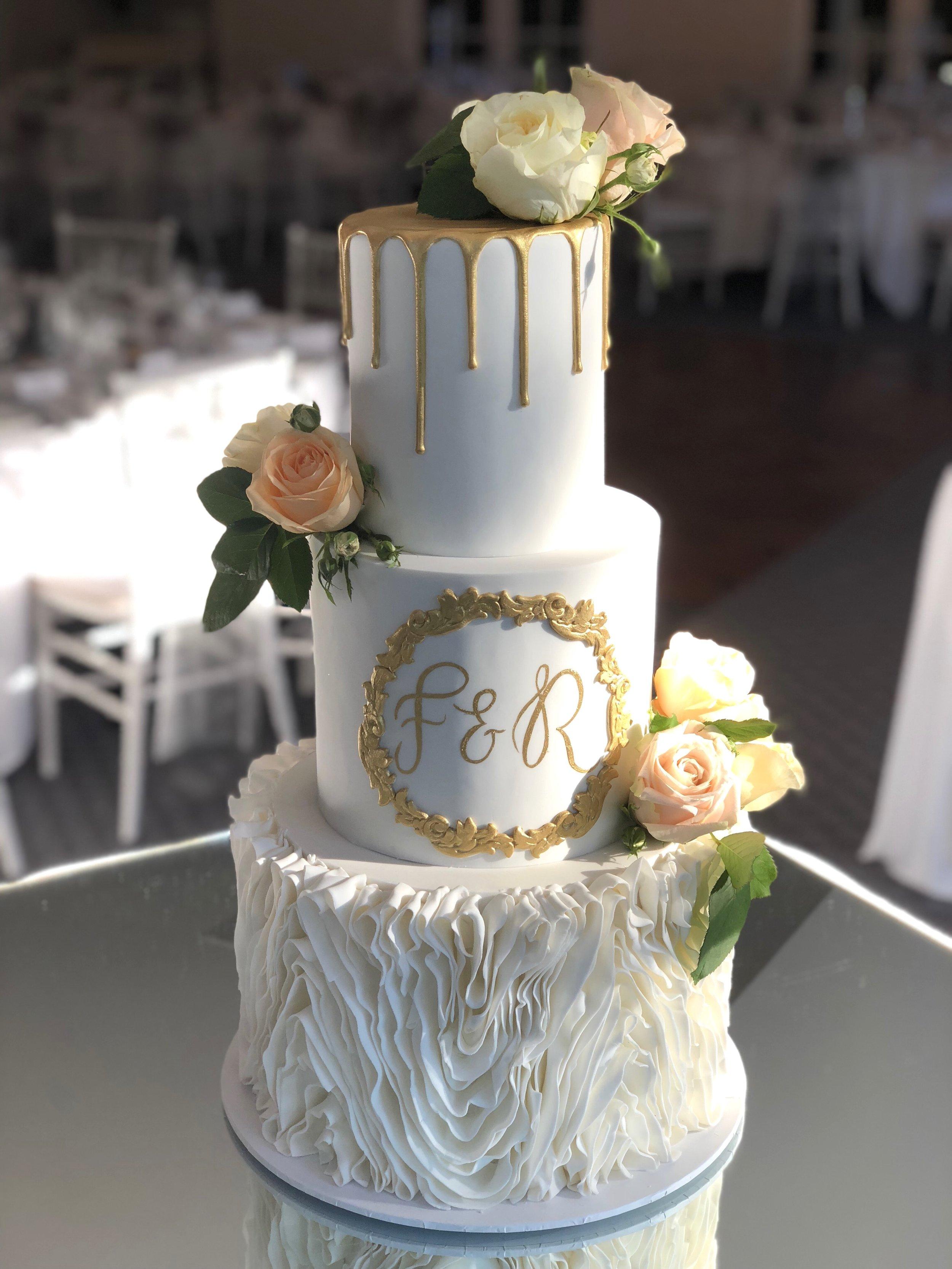 Wedding Cake with Ruffles