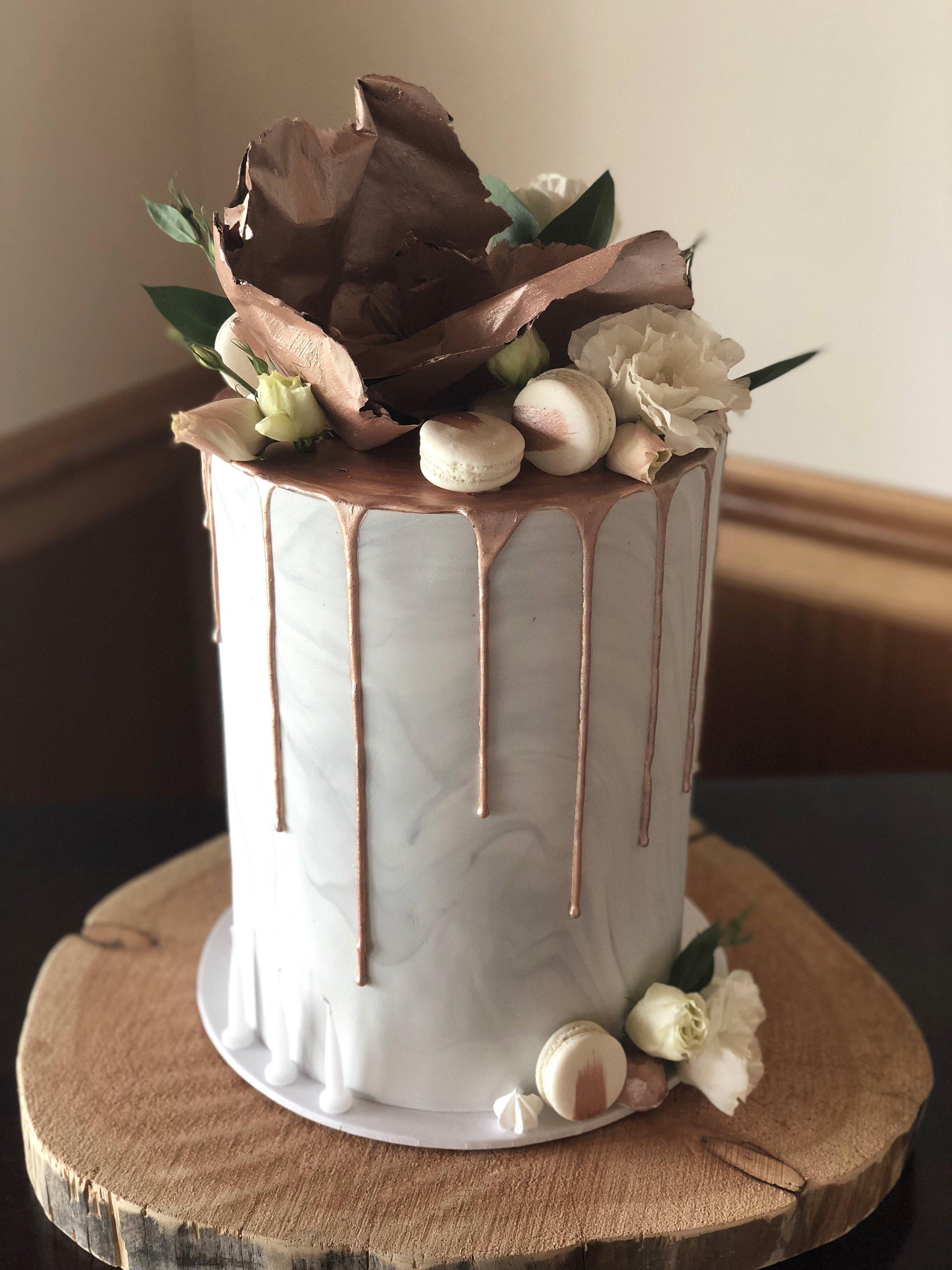 Copper Drip Cake