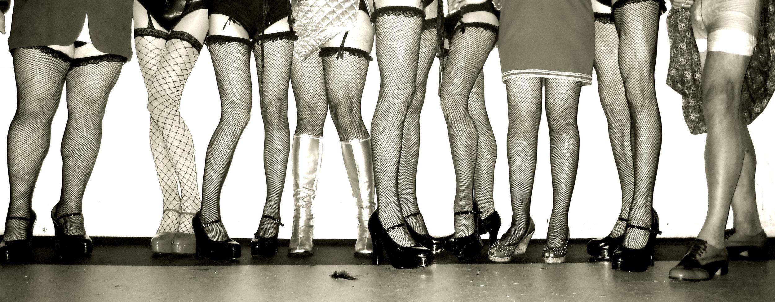Lomenda's legs in The Rocky Horror Show