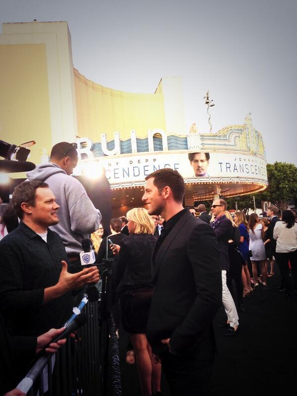 Red carpet at the Transcendence premiere
