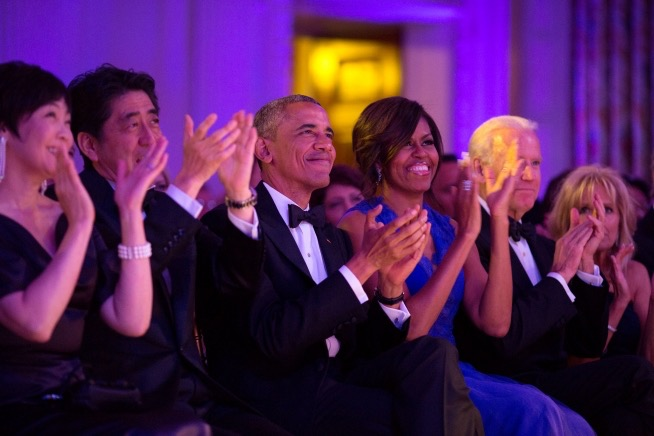 Our distinguished audience for our  White House  performance