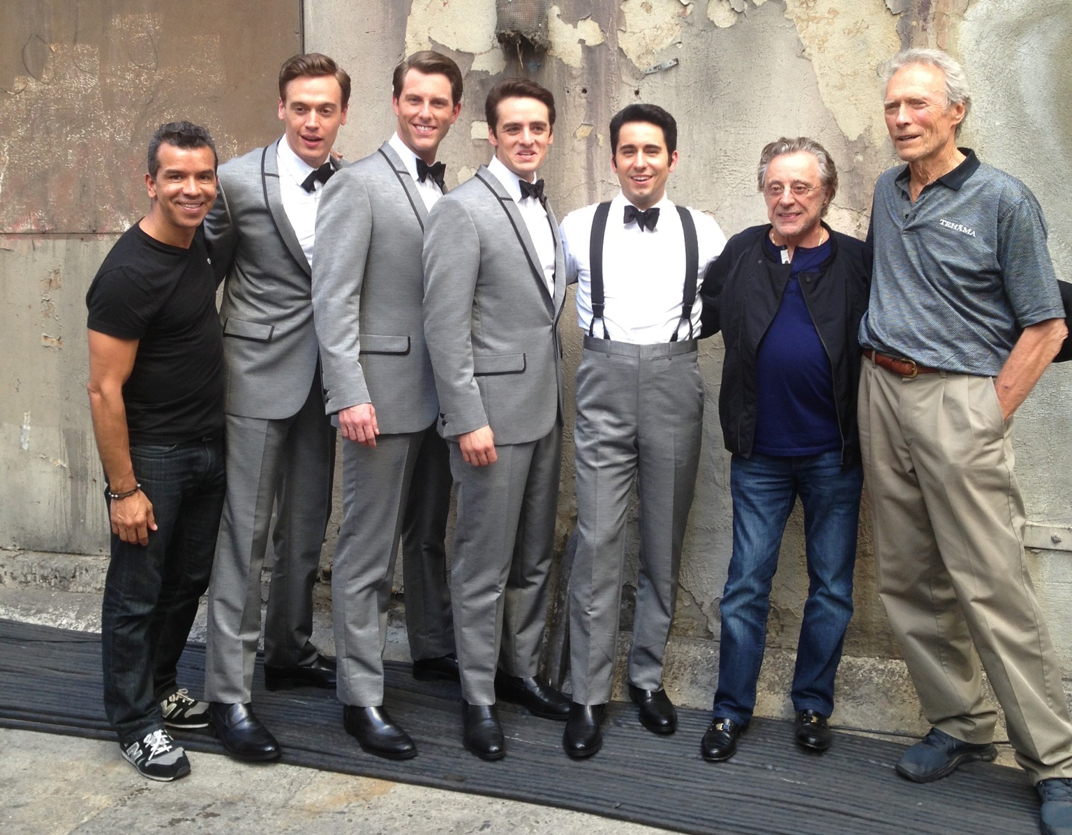 With our choreographer, Sergio Trujillo, Frankie Valli, and Mr. Eastwood