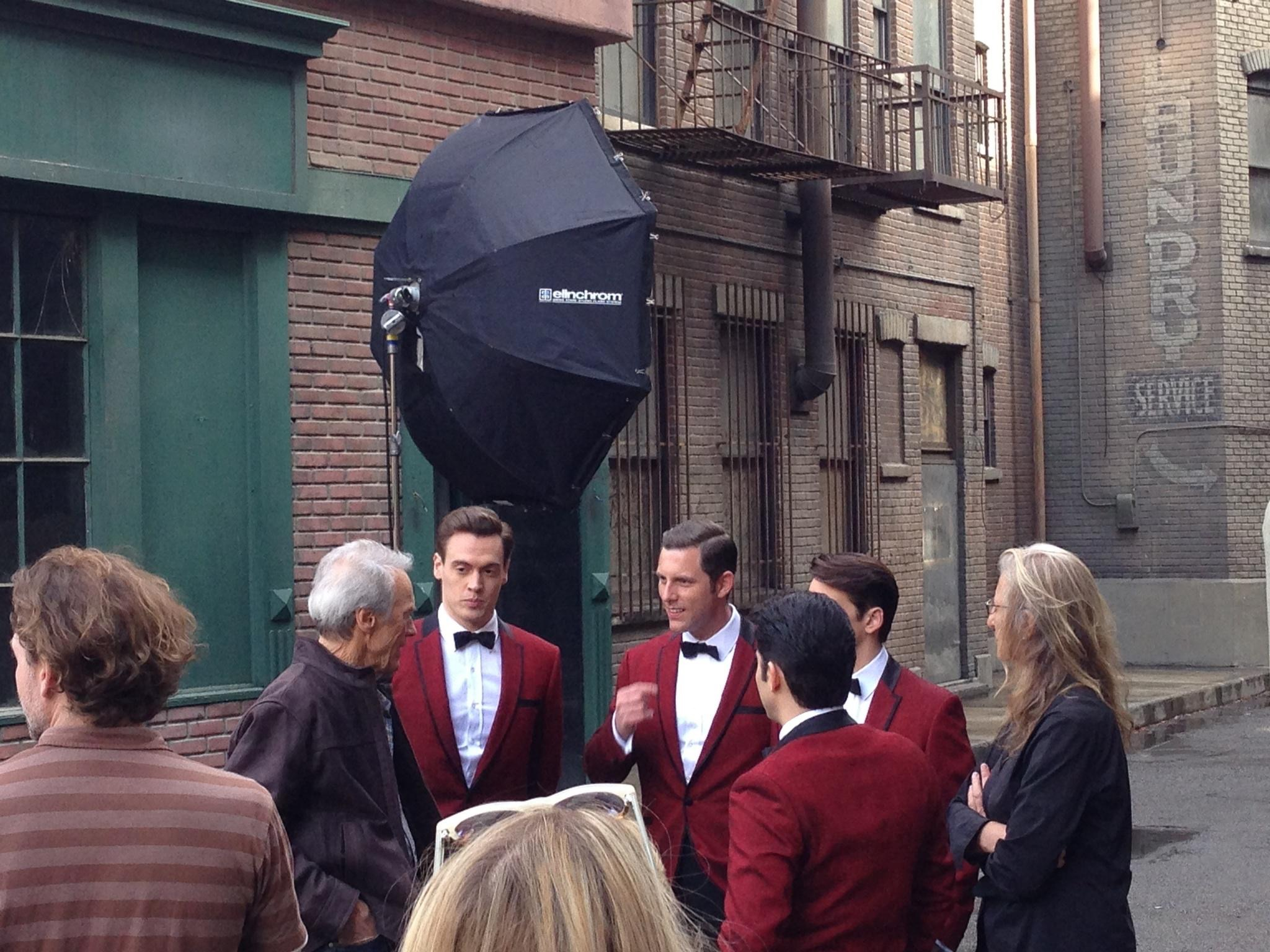 Behind the scenes on our Vanity Fair  photo  shoot with Annie Leibovitz on the Warner Brothers back lot
