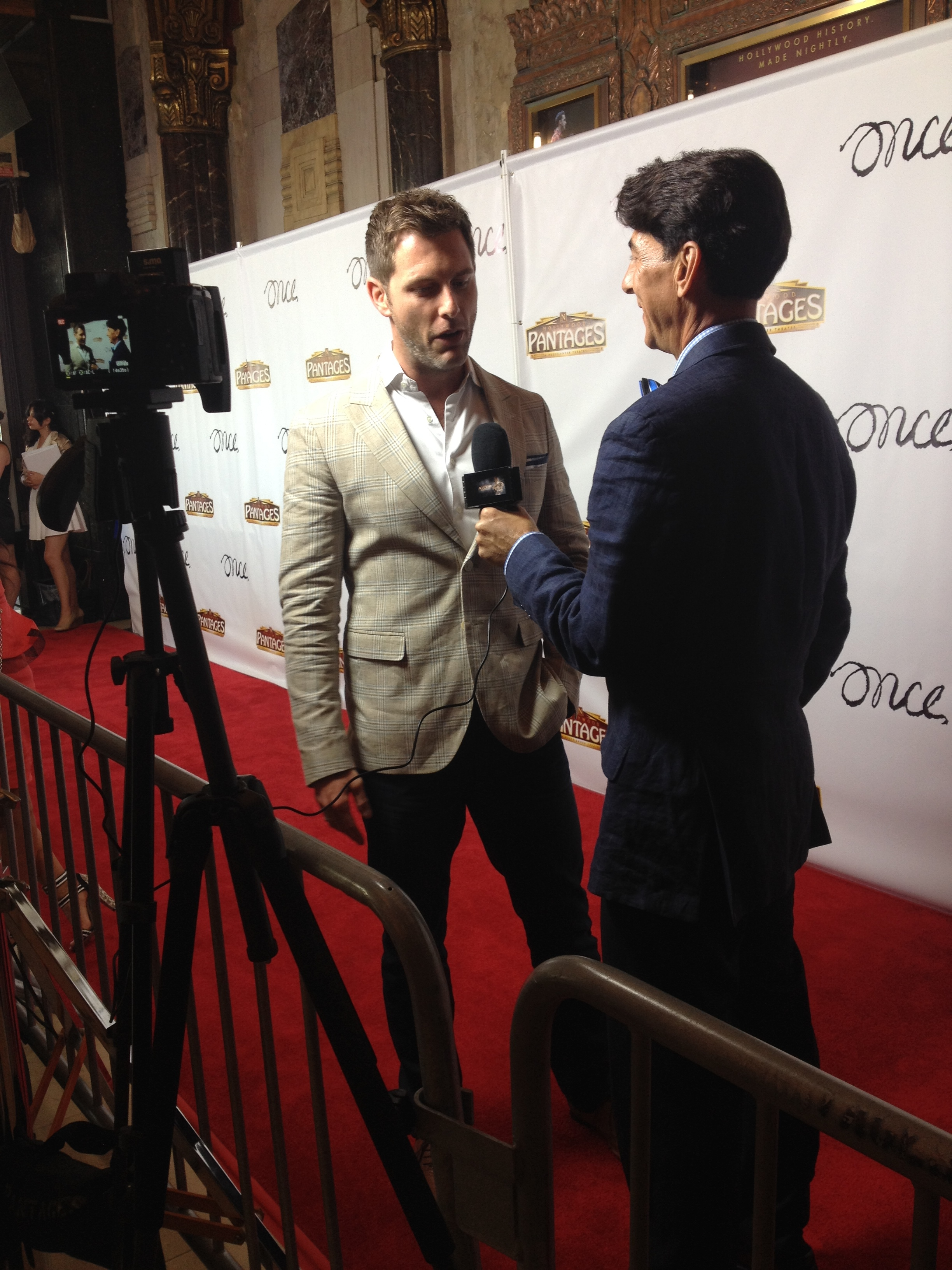 At the opening of the national tour of Once at the Pantages Theatre, Hollywood