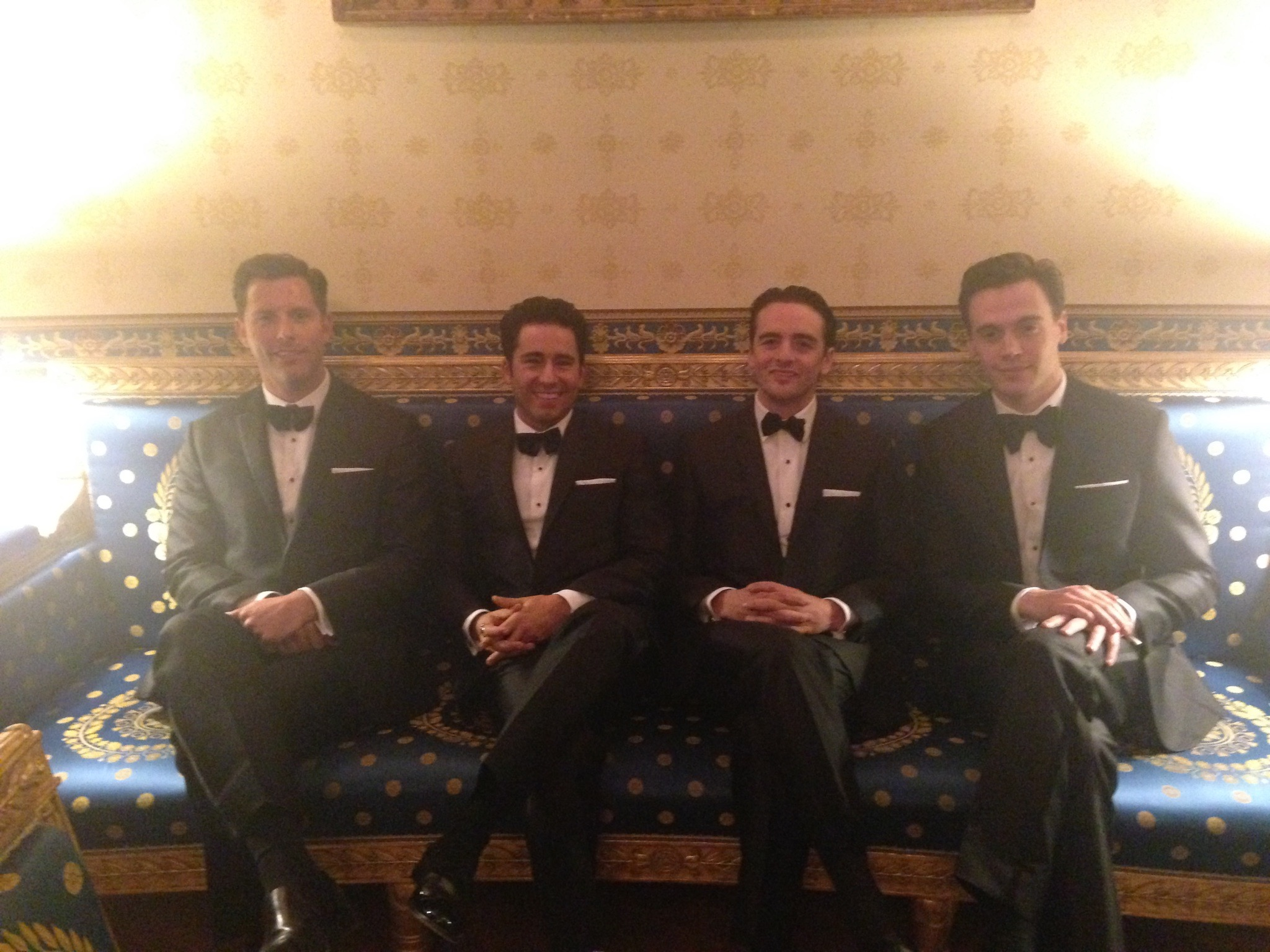 Waiting in the famous Blue Room at the  White House  before our performance