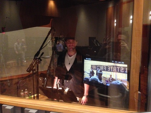 Recording ADR for the Jersey Boys film