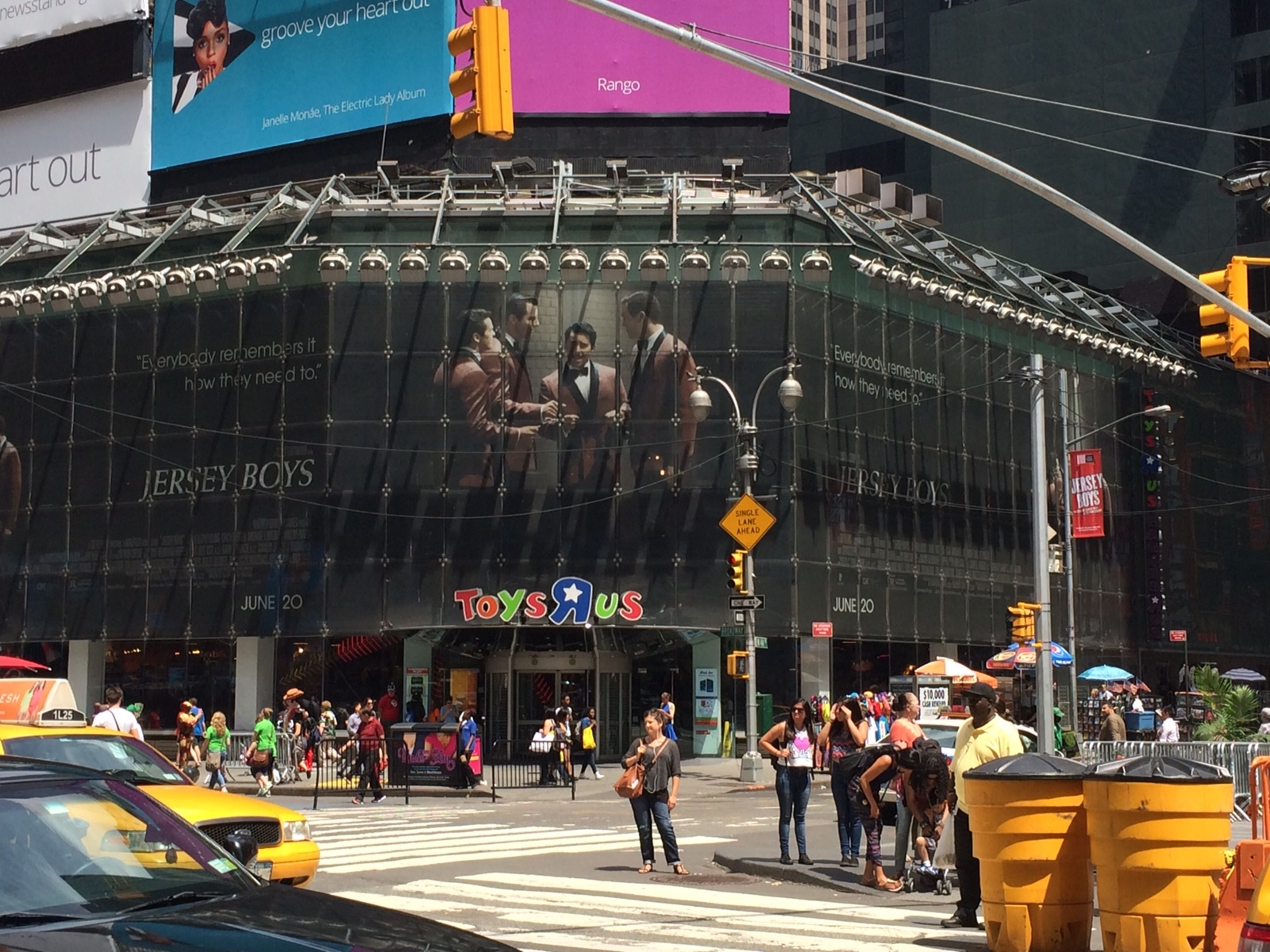 Jersey Boys  film in Time Square, New York