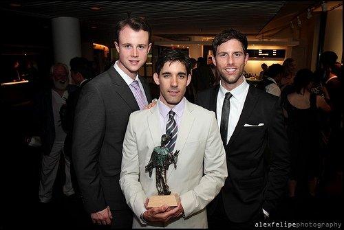 Quinn VanAntwerp, Jeff Madden and I at the 2009 Dora Awards  (Original Canadian Company of Jersey Boys)