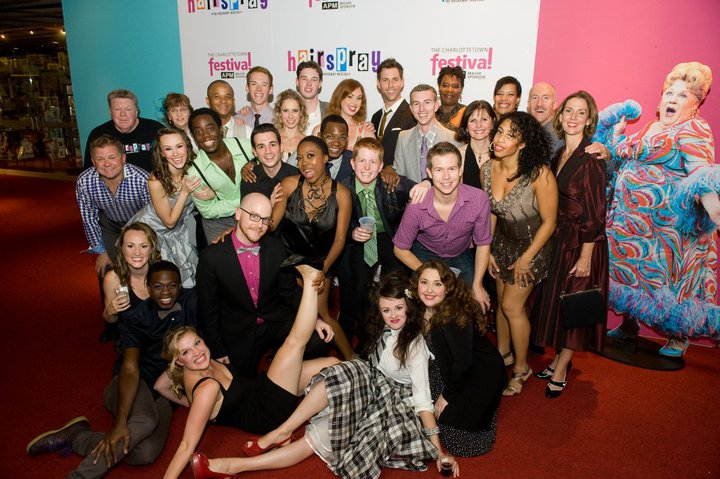 The cast of  Hairspray starring George Wendt on opening night at the Charlottetown Festival