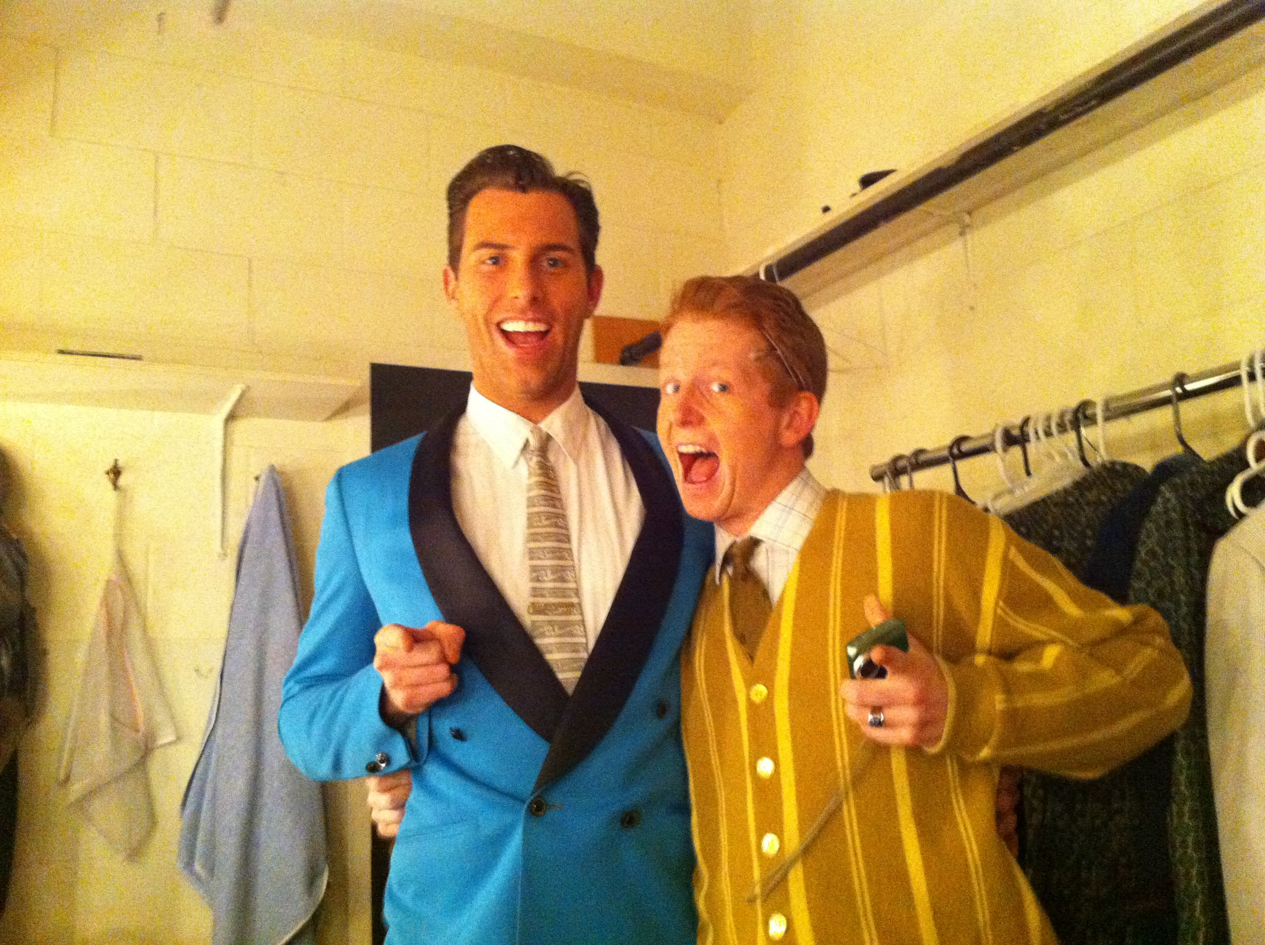 """Backstage at the Charlottetown Festival playing """"Corny"""" in  Hairspray"""