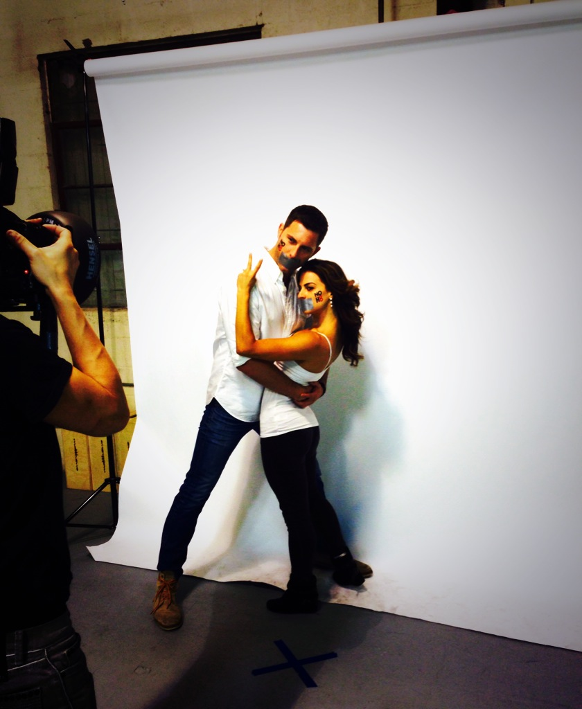Behind the scenes with beautiful, Renee Marino at our  NOH8 Campaign  photo shoot
