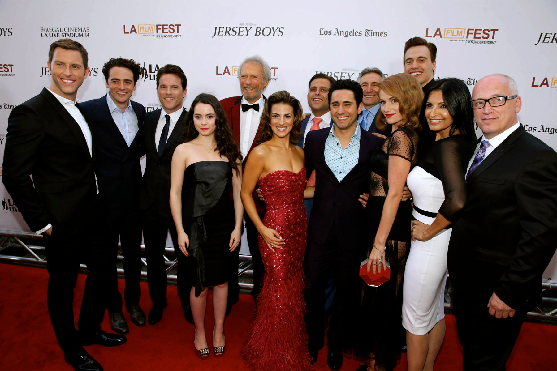 Mr. Eastwood and the Cast of the film, Jersey Boys, at the LA Film Festival premiere
