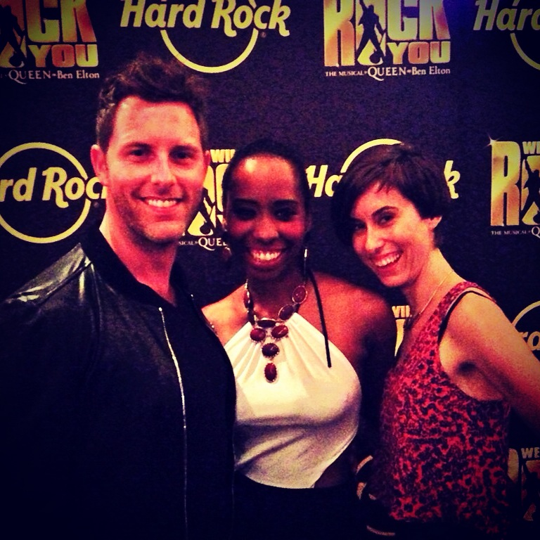 At the  We Will Rock You  opening night party in LA